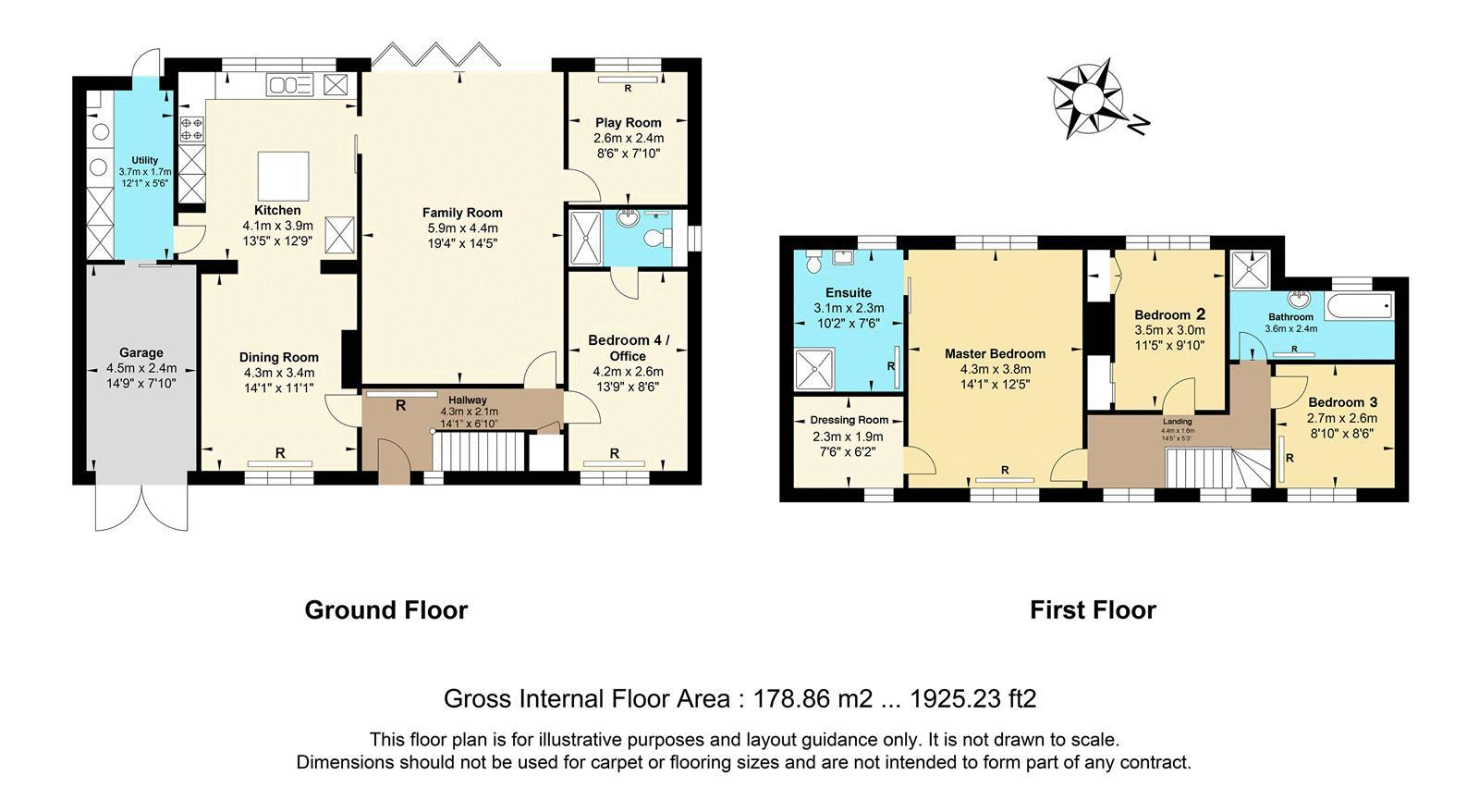 4 bed house for sale in Roundwood Way - Property Floorplan