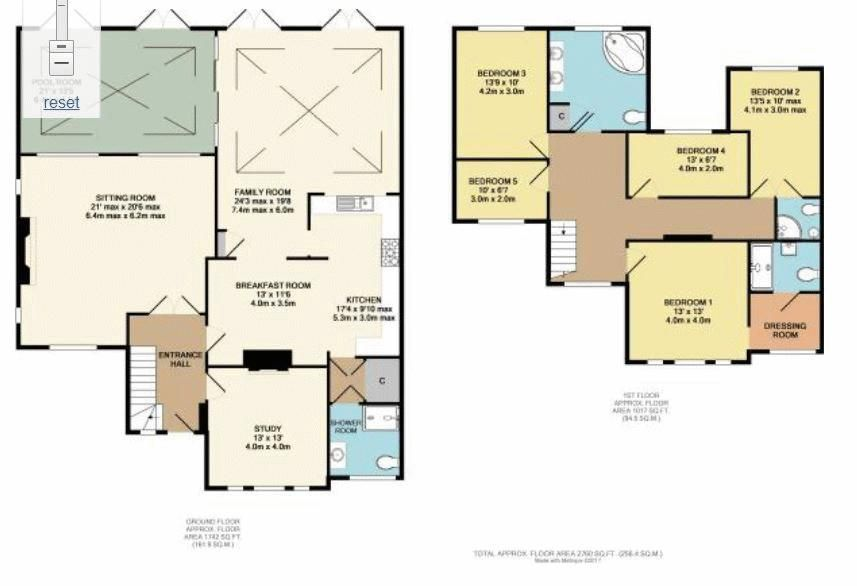 5 bed house for sale in Nork Way - Property Floorplan