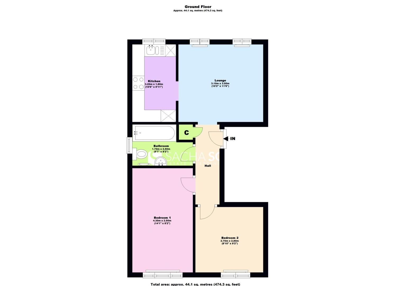 2 bed flat to rent in Deans Road - Property Floorplan