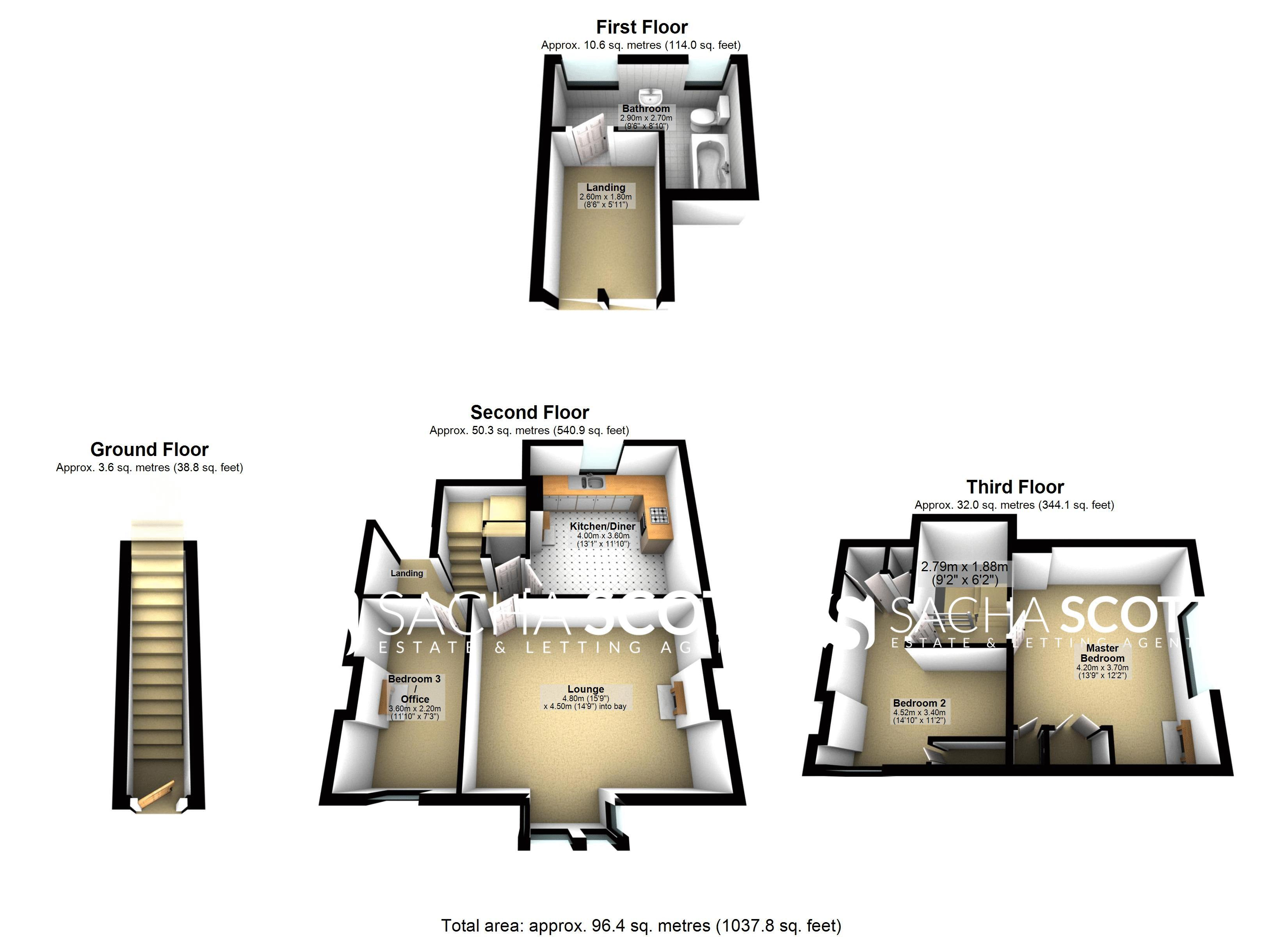 3 bed flat for sale in Nutfield Road - Property Floorplan