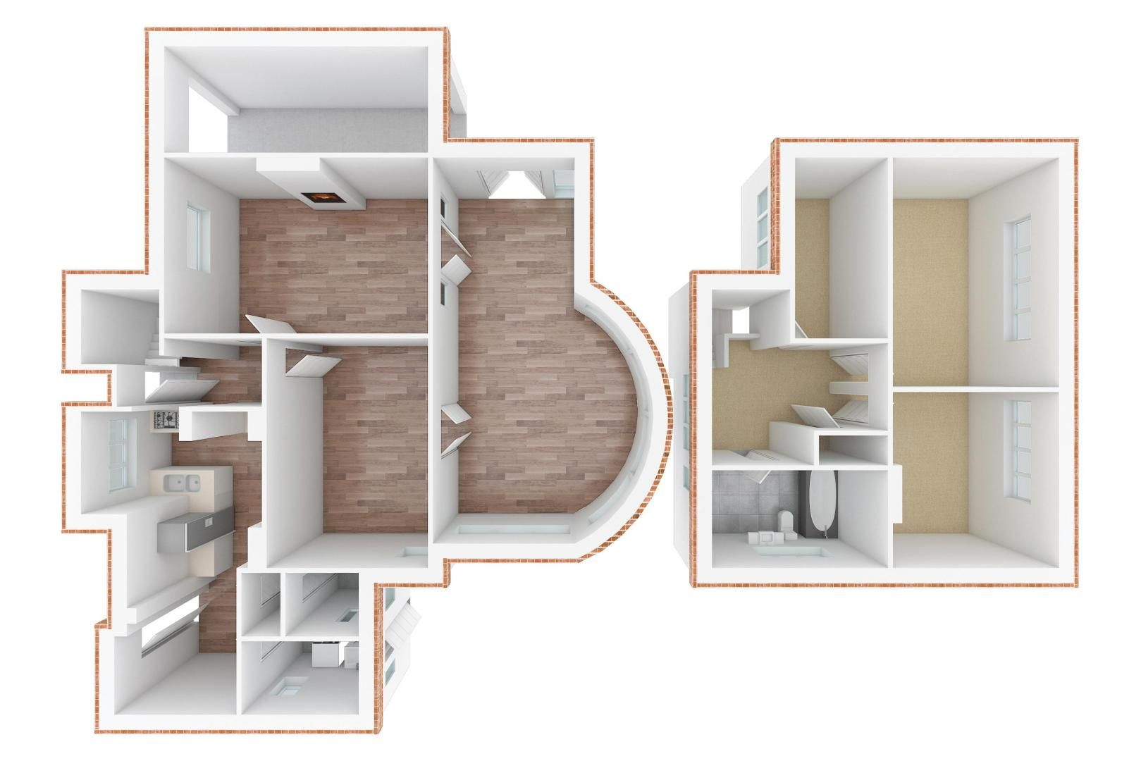 3 bed house for sale in Burgh Wood - Property Floorplan