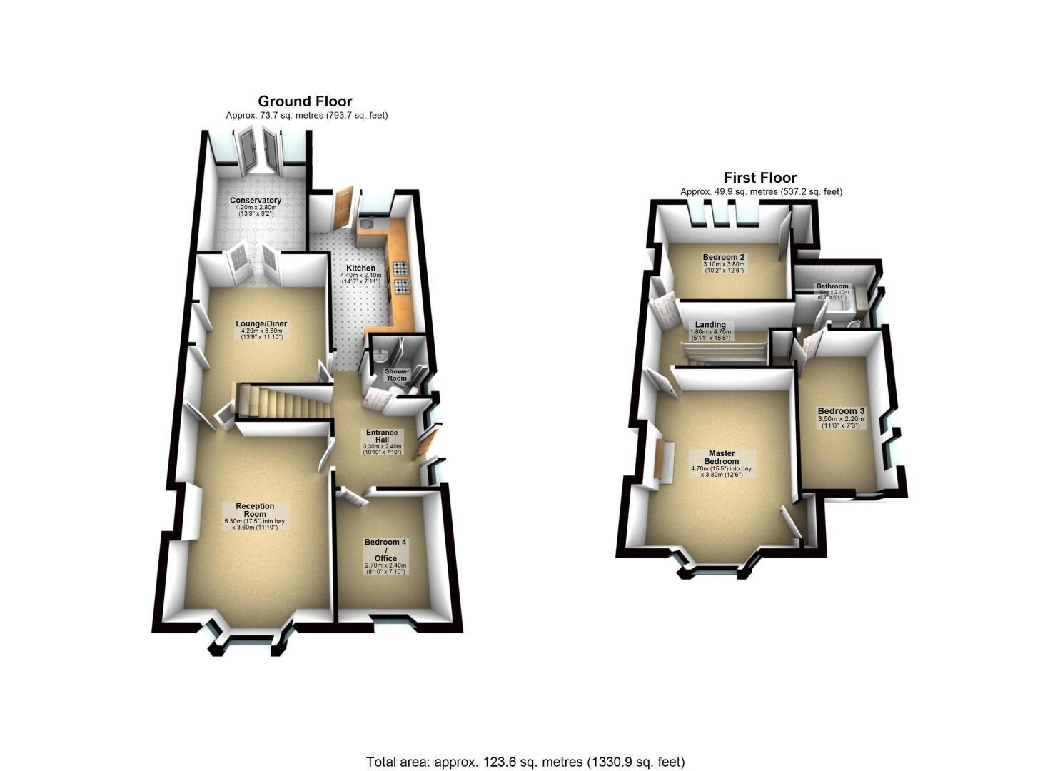4 bed house for sale in Greenhayes Avenue - Property Floorplan