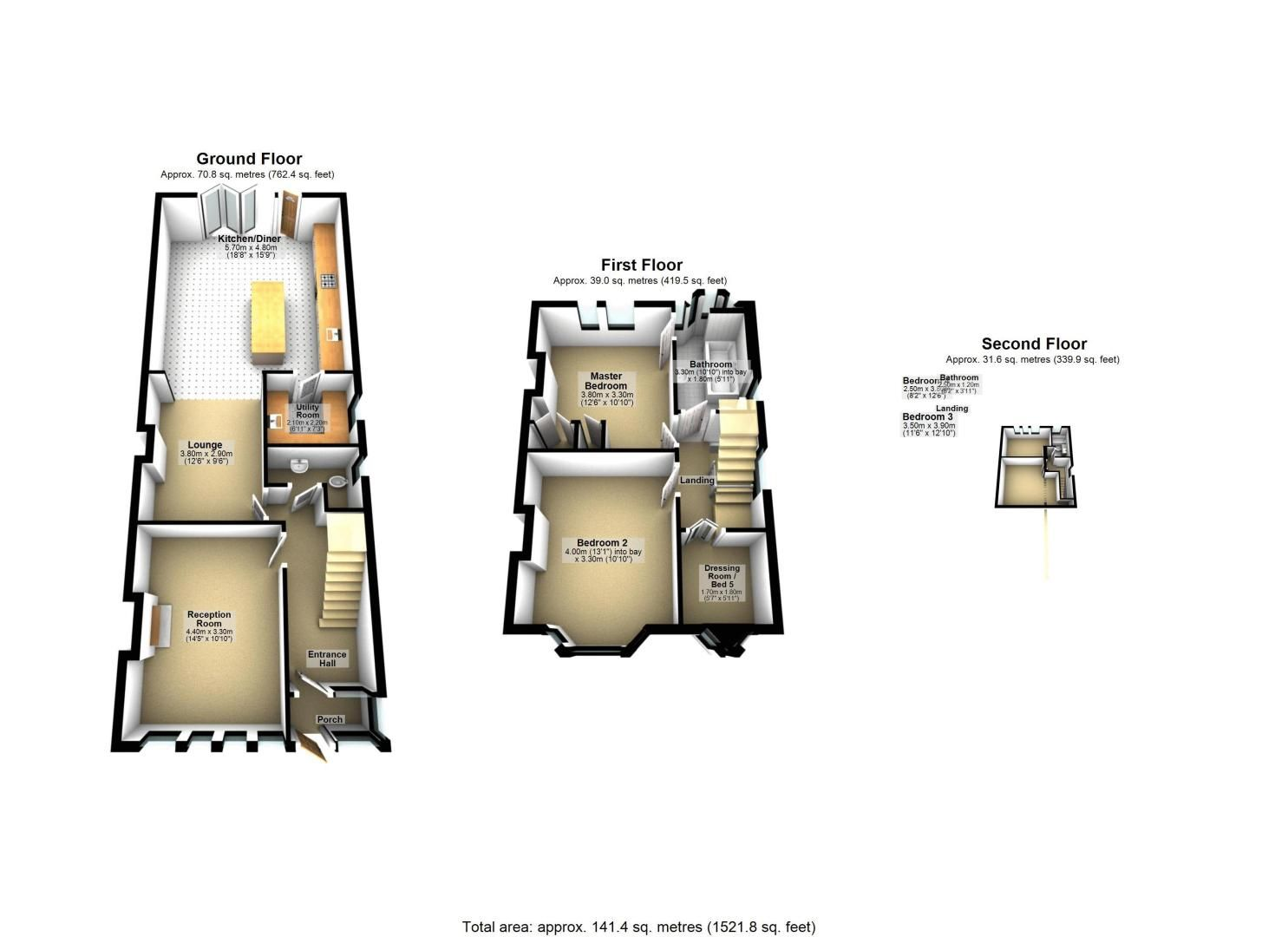 5 bed house for sale in Taunton Close - Property Floorplan
