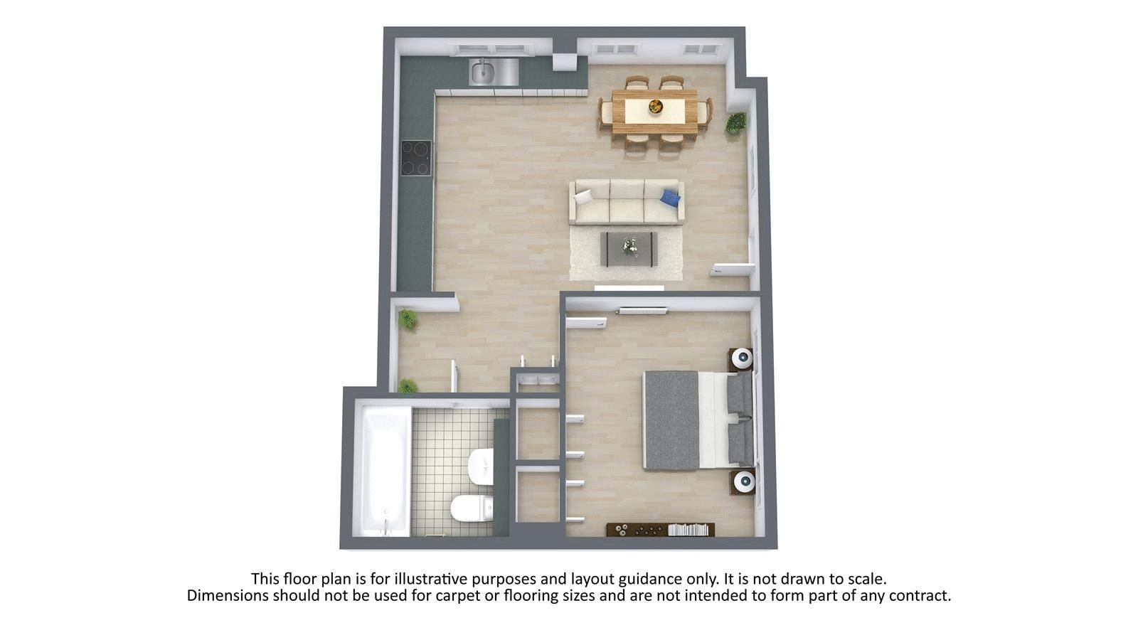 1 bed  for sale in 9 The Street - Property Floorplan