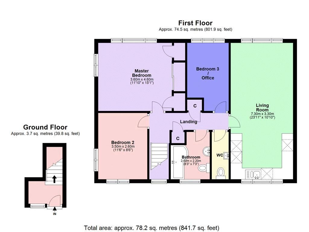 3 bed flat to rent in Axwood - Property Floorplan