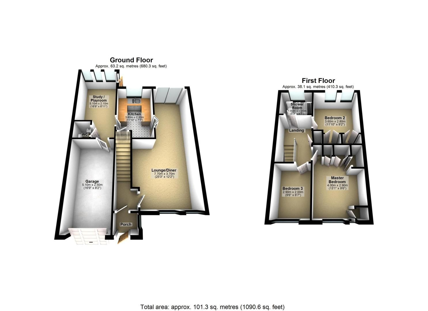 3 bed house for sale in High Beeches - Property Floorplan