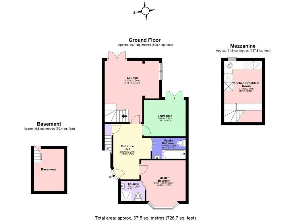 2 bed flat for sale in Hubert Grove - Property Floorplan