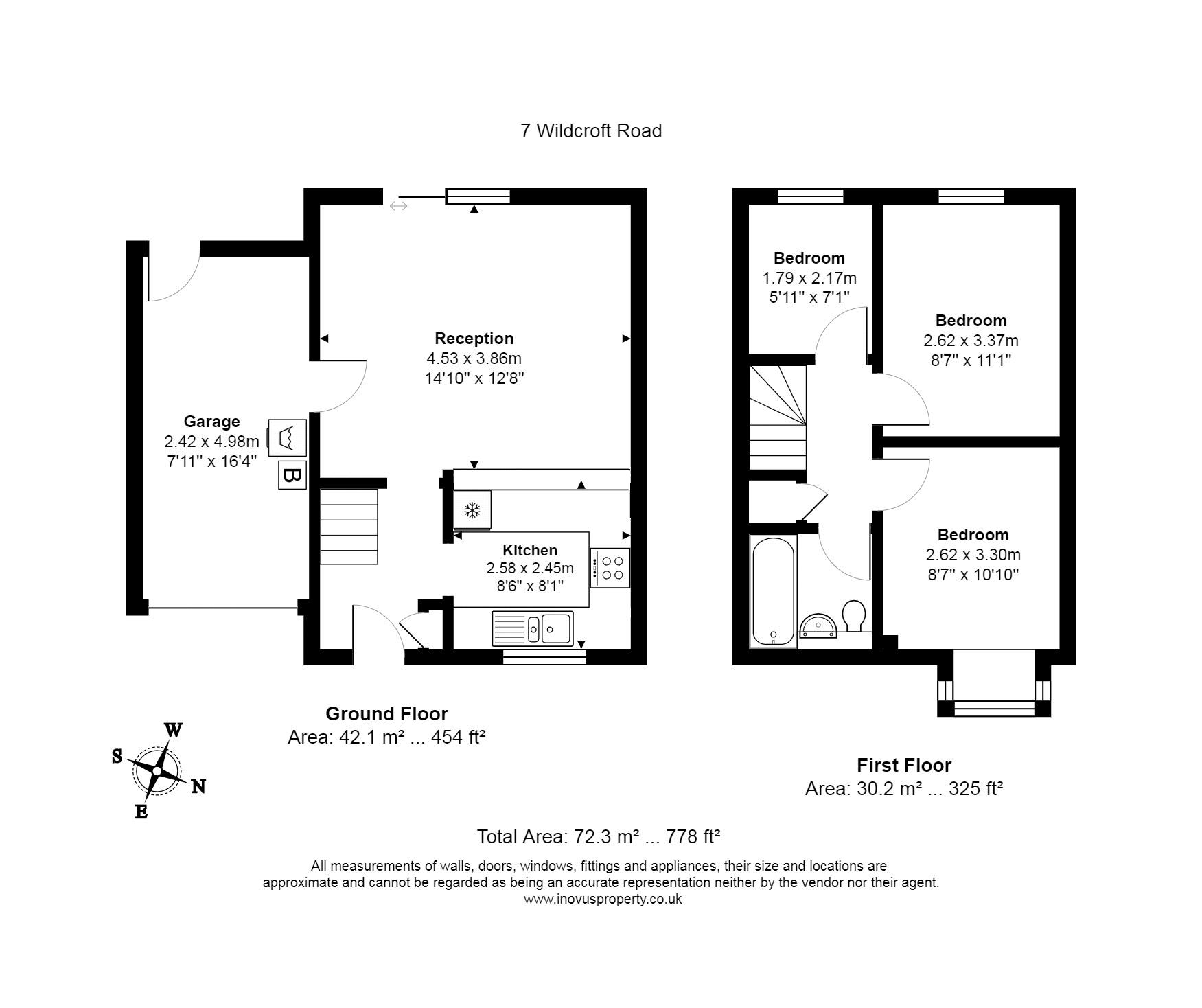 3 bed house for sale in Wildcroft Road - Property Floorplan