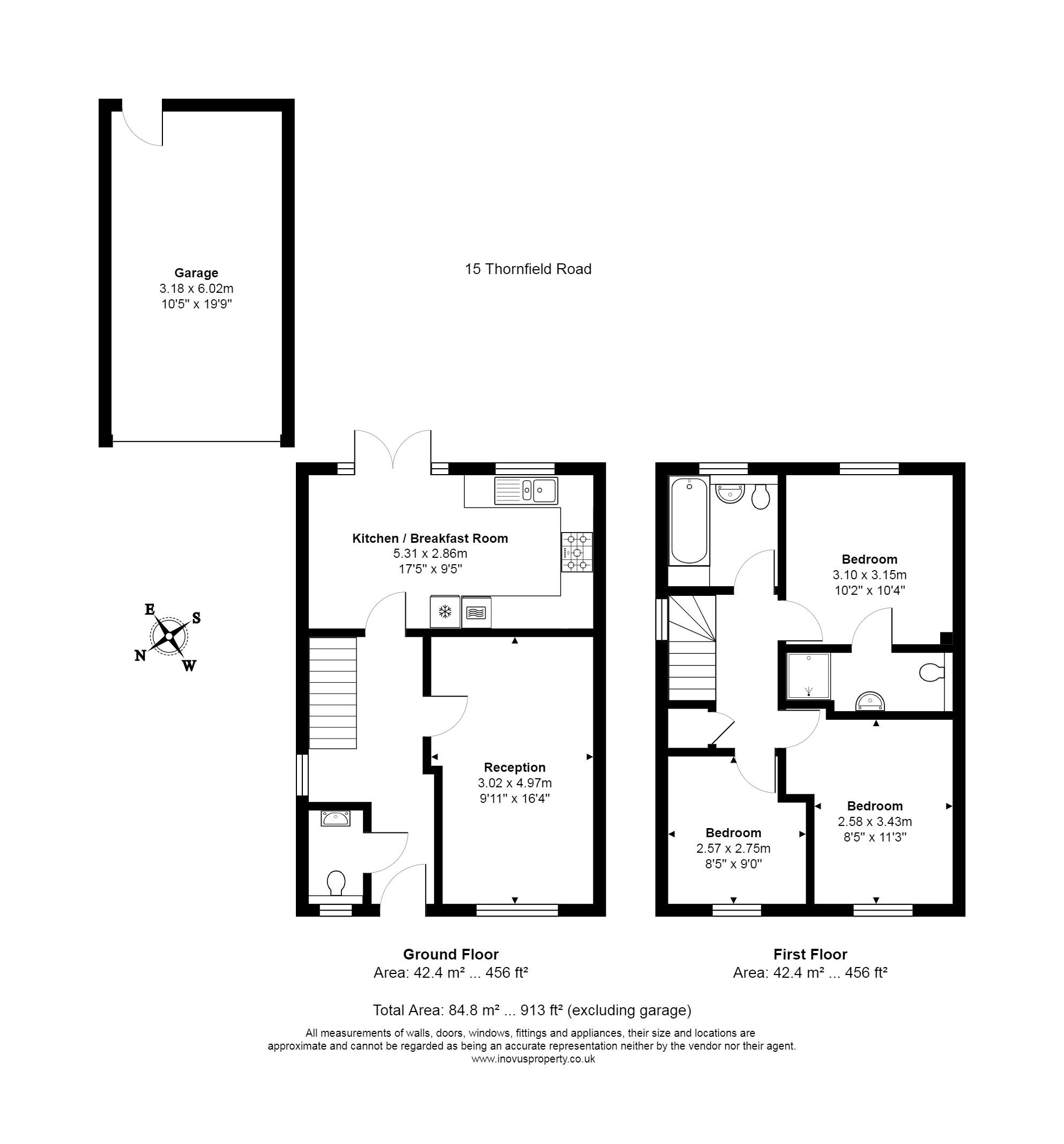 3 bed house for sale in Thornfield Road - Property Floorplan