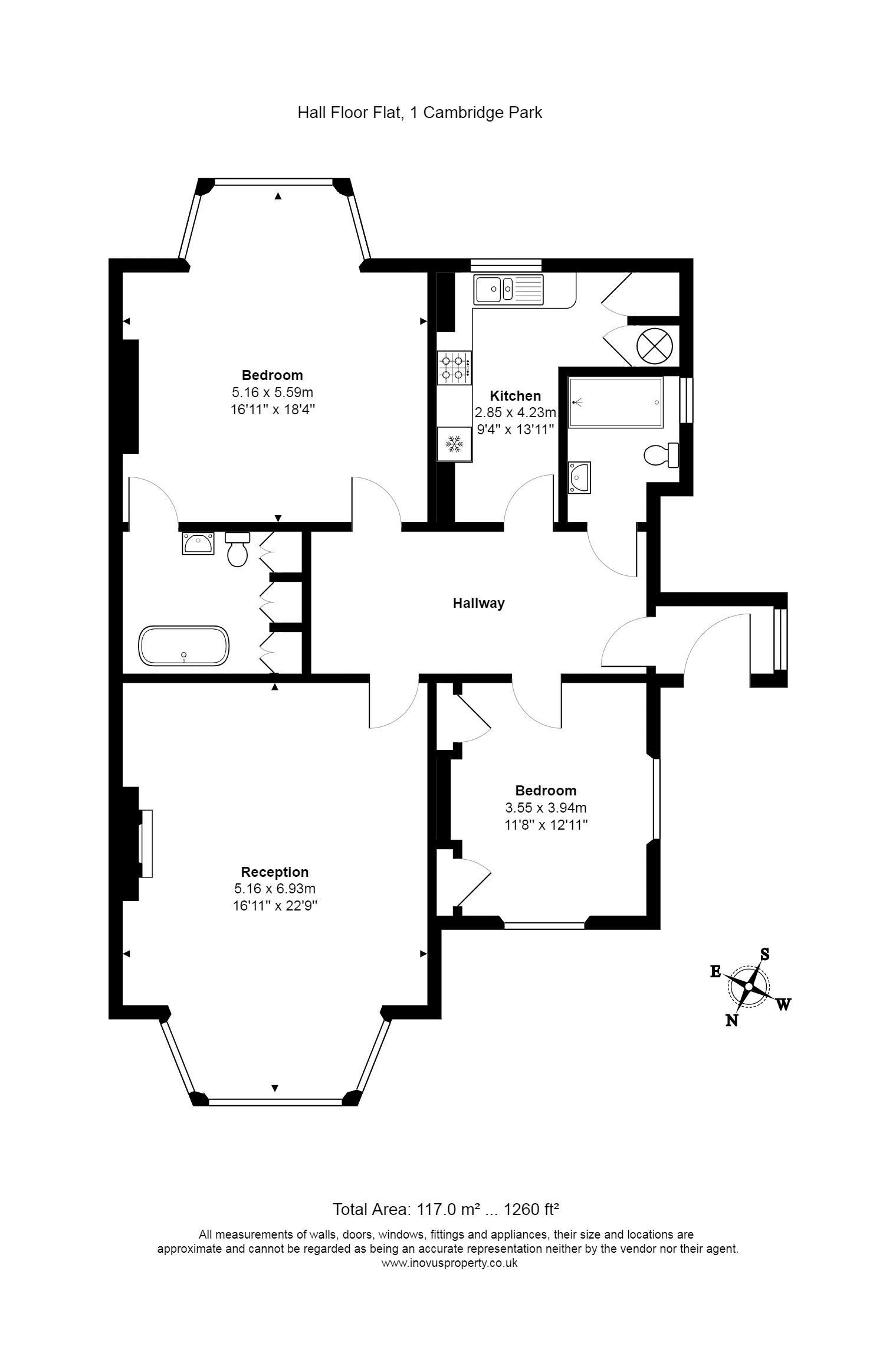 2 bed flat to rent in Cambridge Park - Property Floorplan