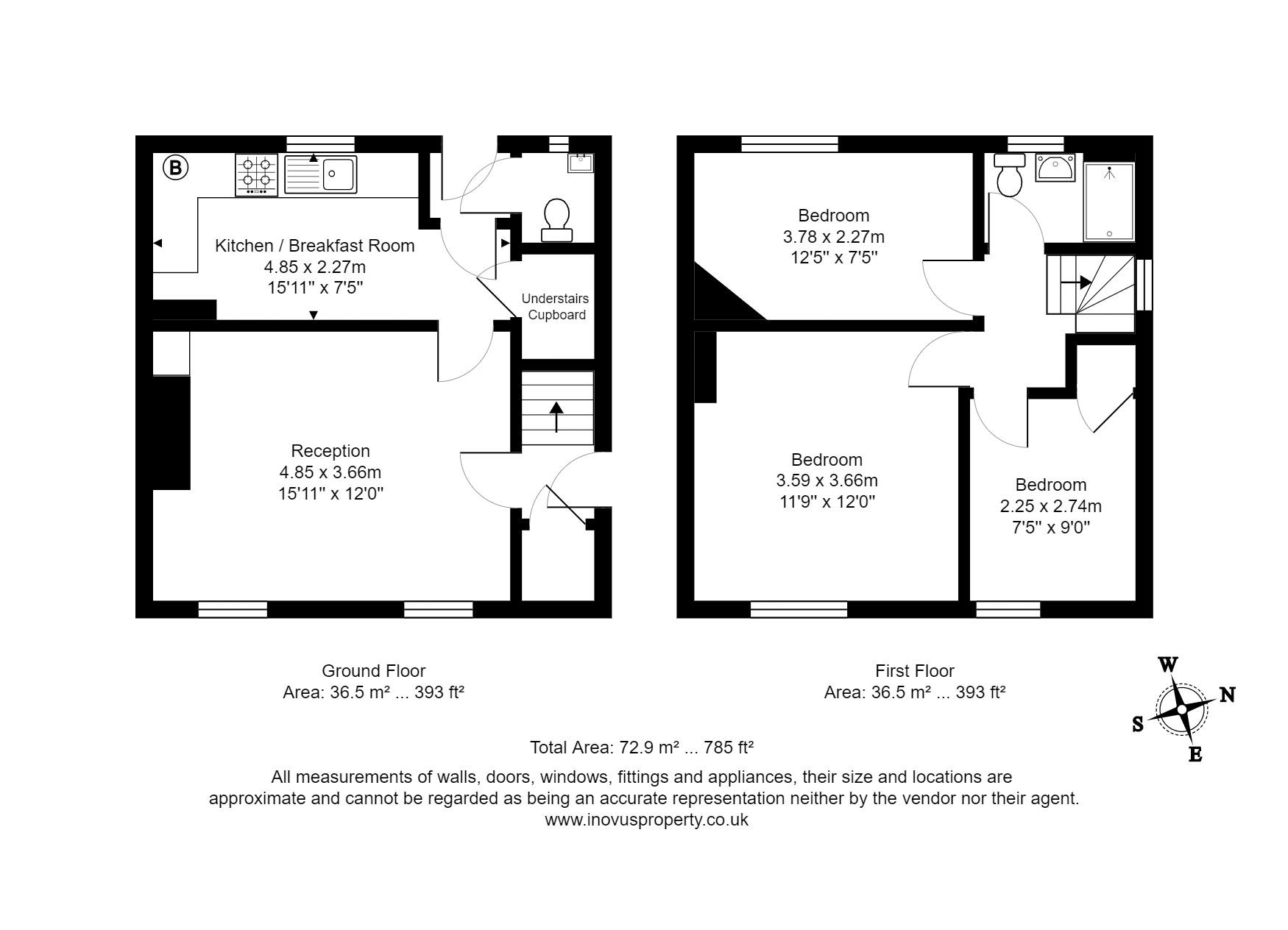 3 bed house to rent in Portbury Grove - Property Floorplan