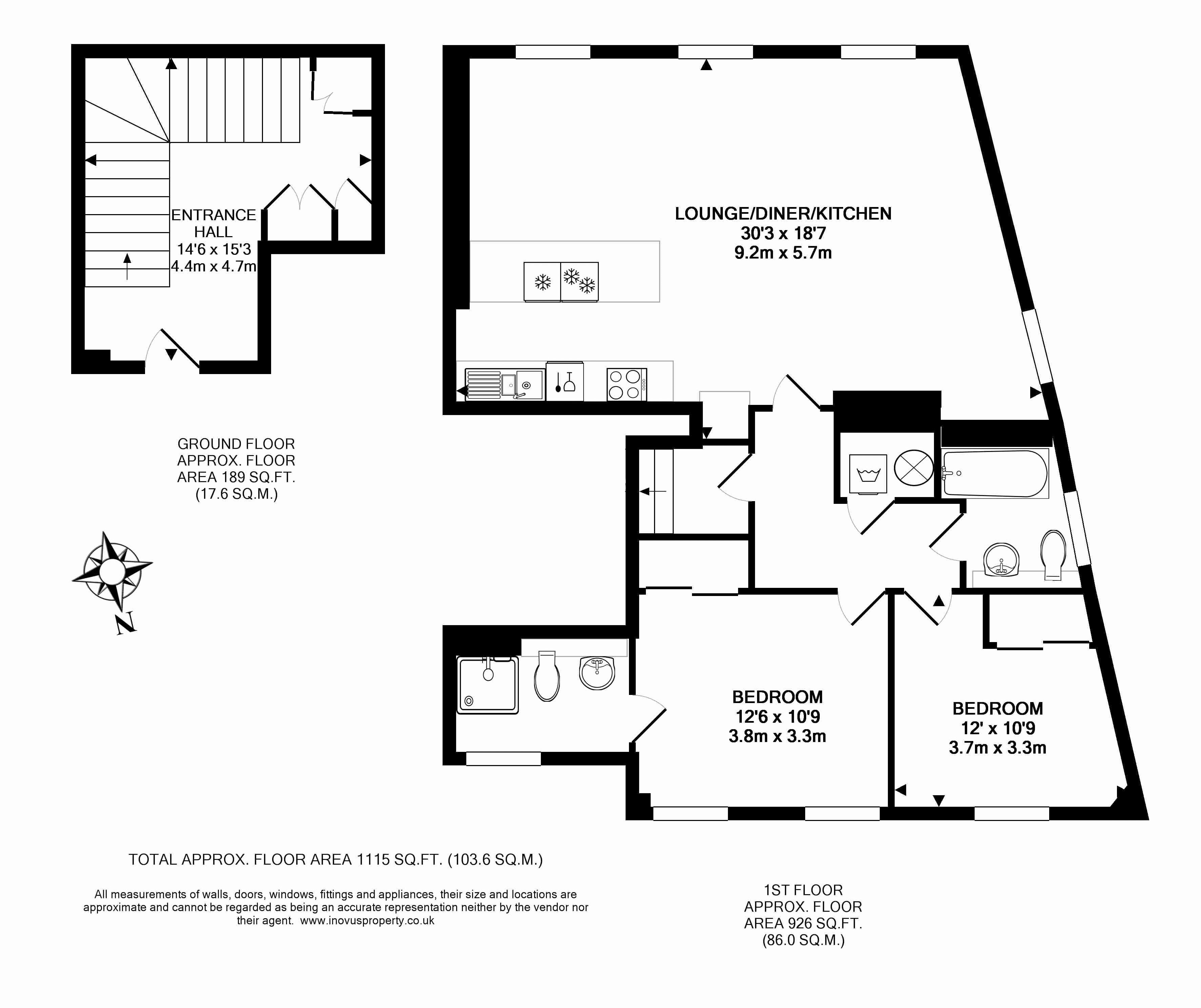 2 bed flat for sale in Cornwallis Grove - Property Floorplan
