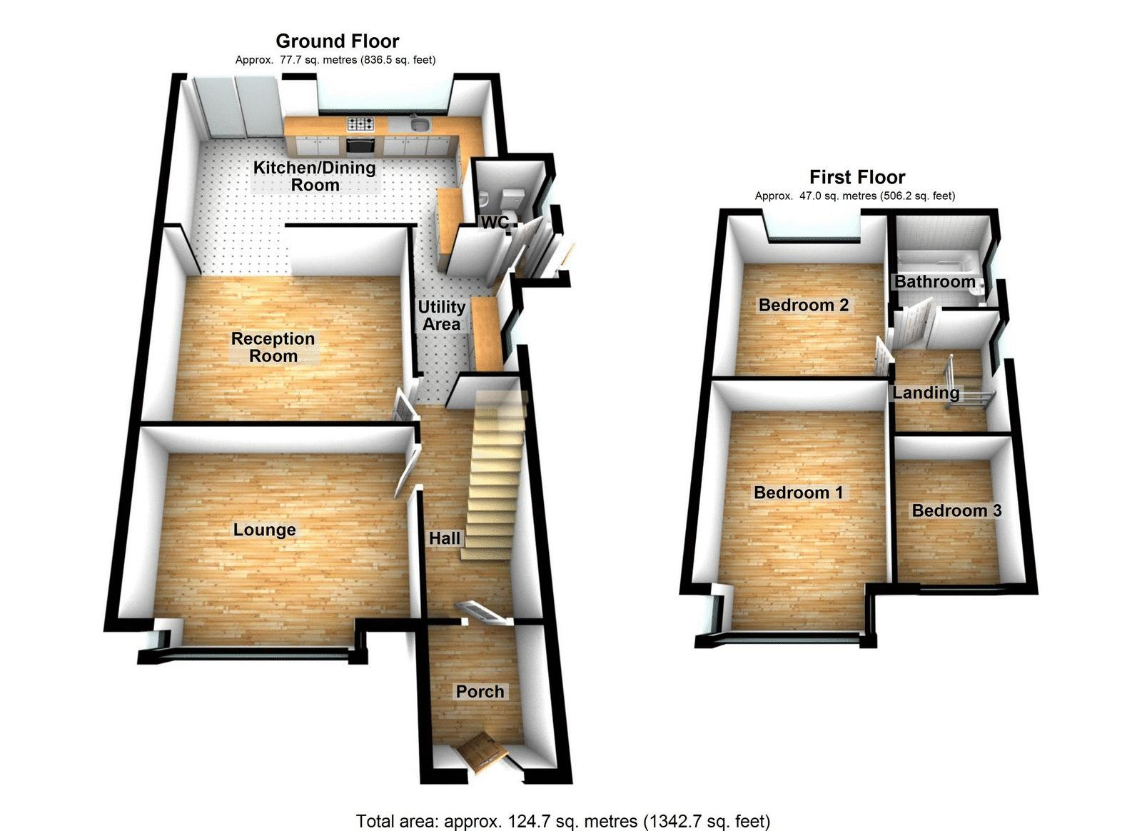 House for sale in Acacia Road - Property Floorplan