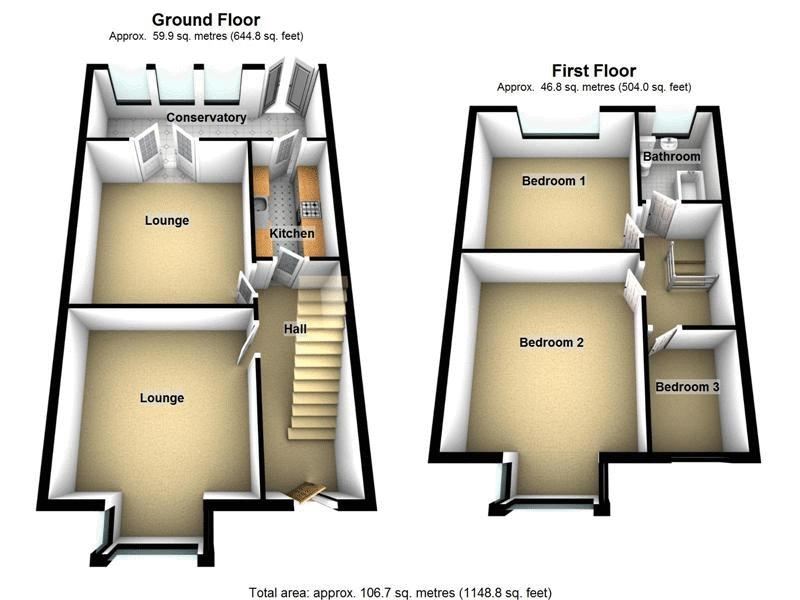 3 bed house to rent in Ashley Down Road - Property Floorplan