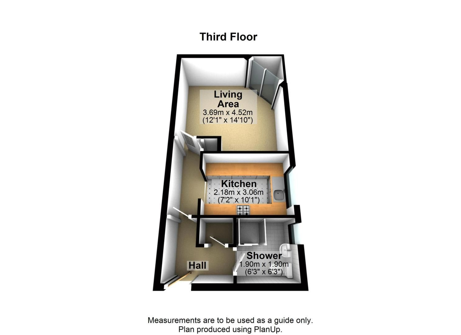 1 bed flat to rent in Ferry Street - Property Floorplan