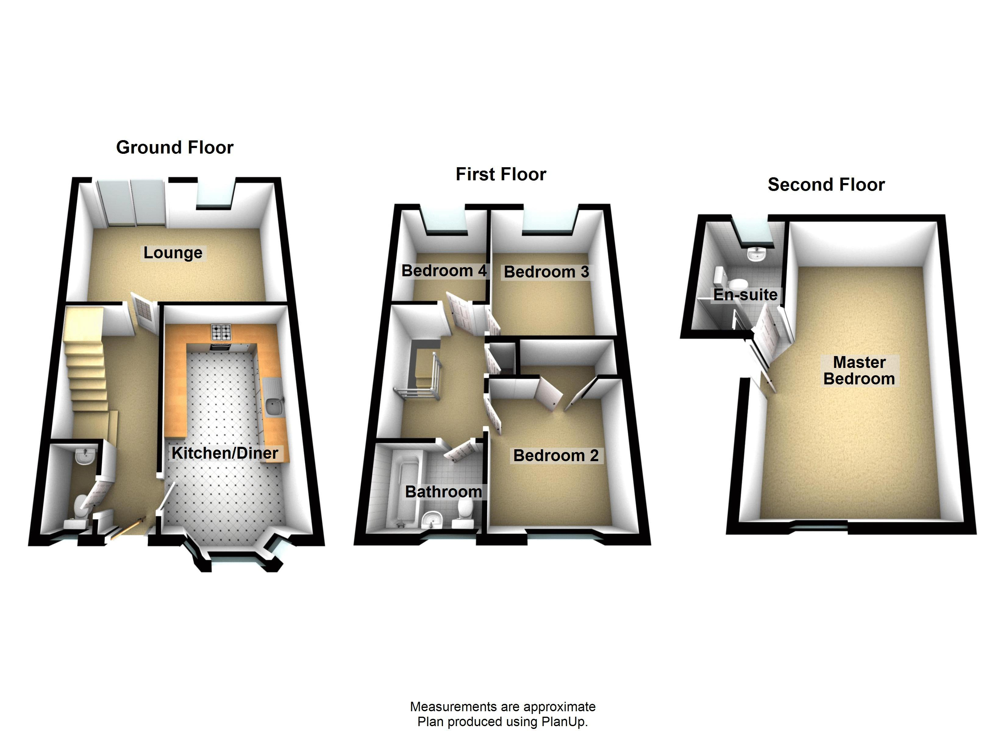 4 bed house to rent in Blackcurrant Drive - Property Floorplan