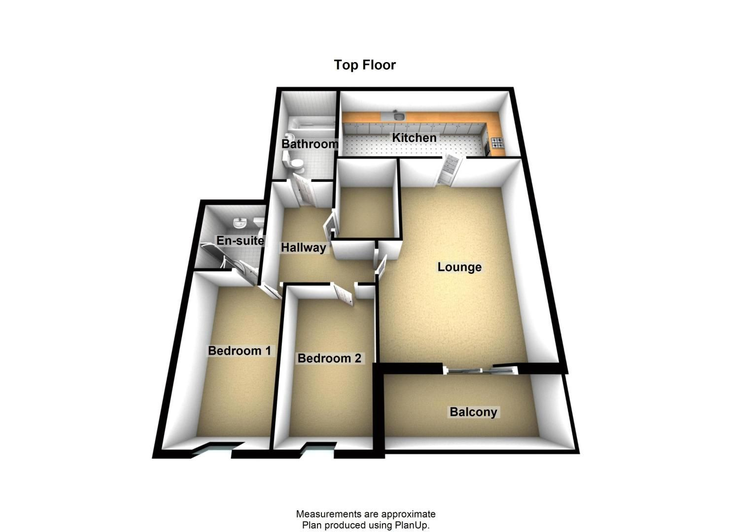 2 bed flat to rent in The Old Orchard - Property Floorplan