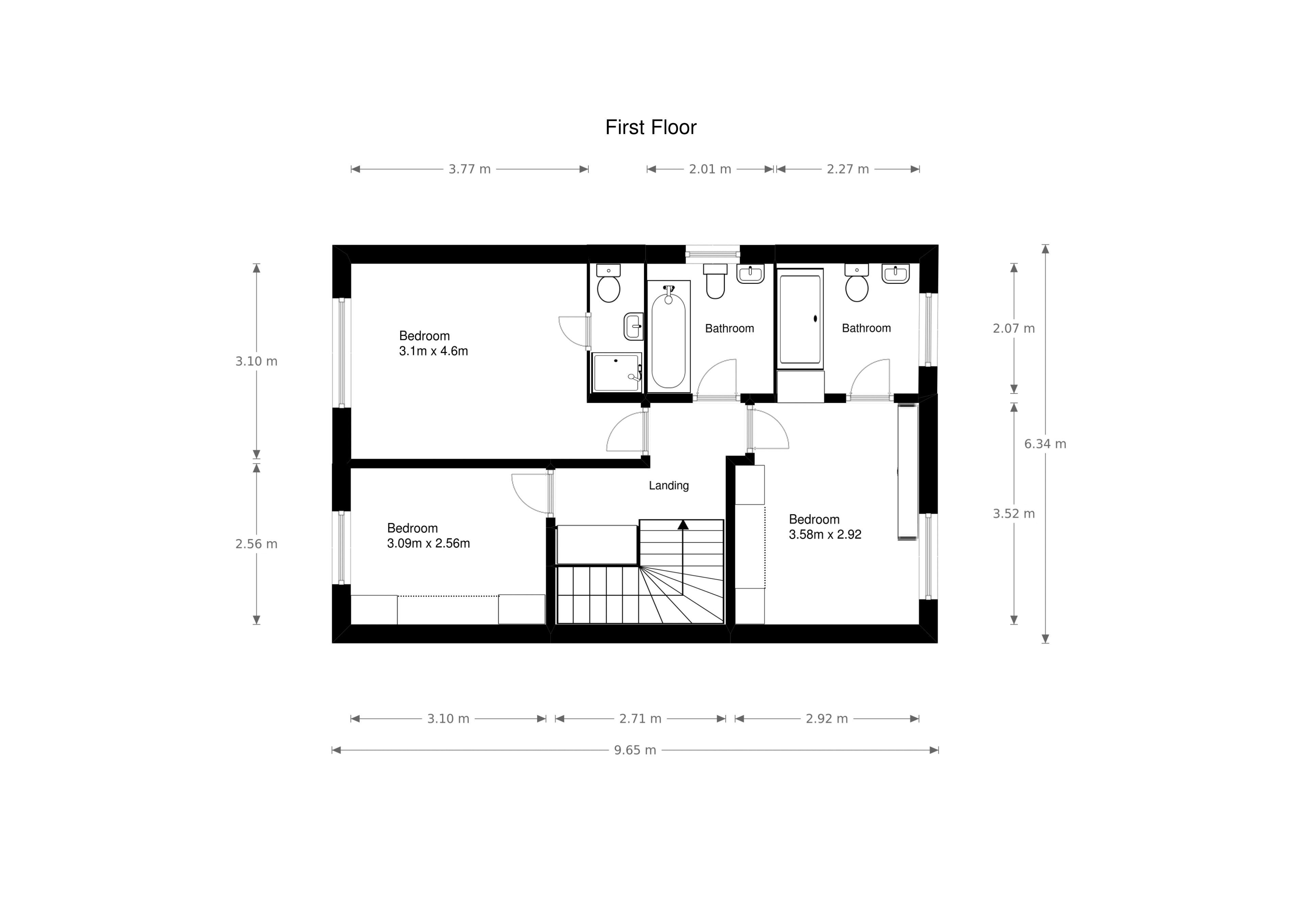 3 bed house for sale in Fallodon Way - Property Floorplan