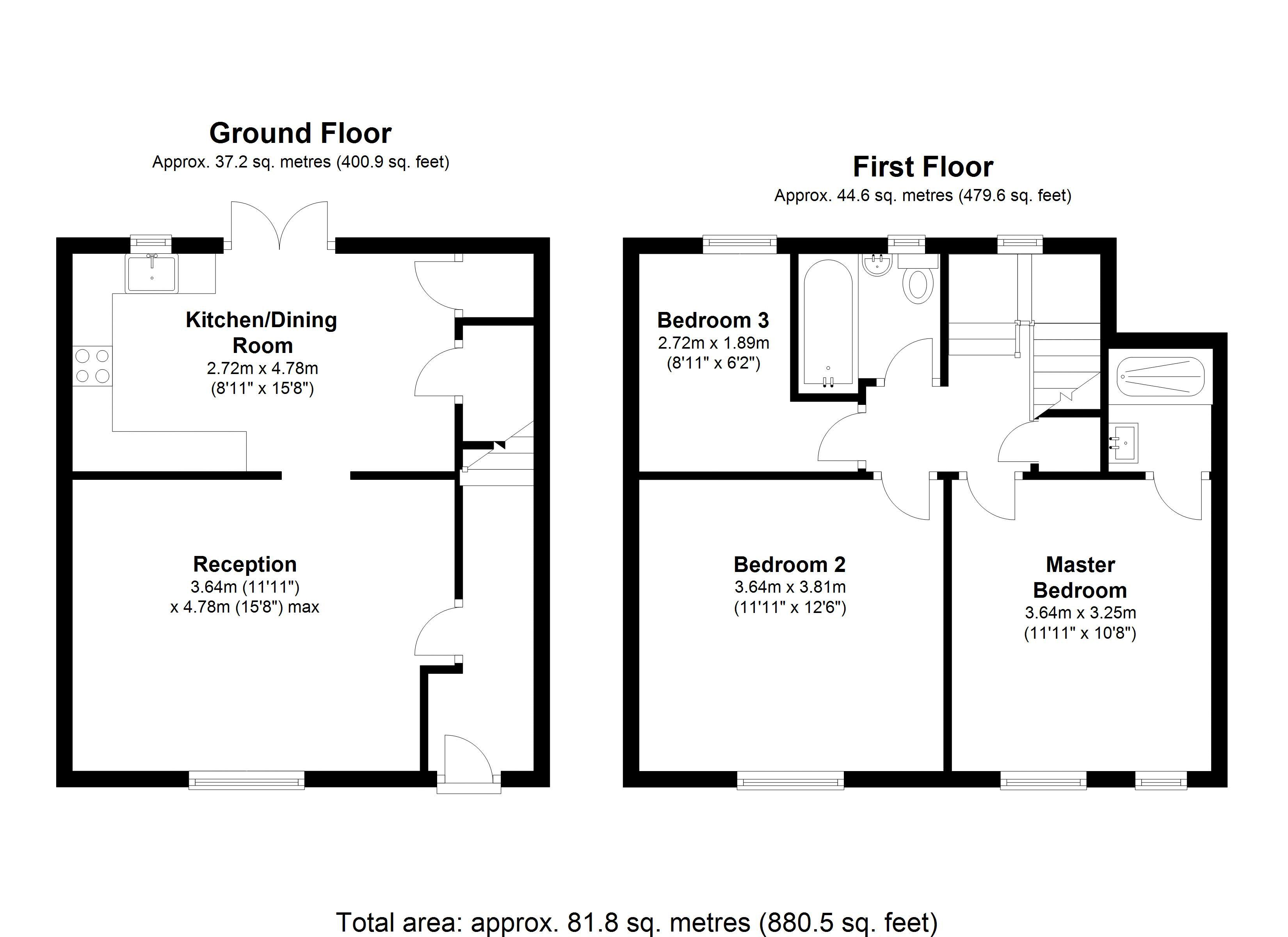 3 bed house for sale in Thicket Avenue - Property Floorplan