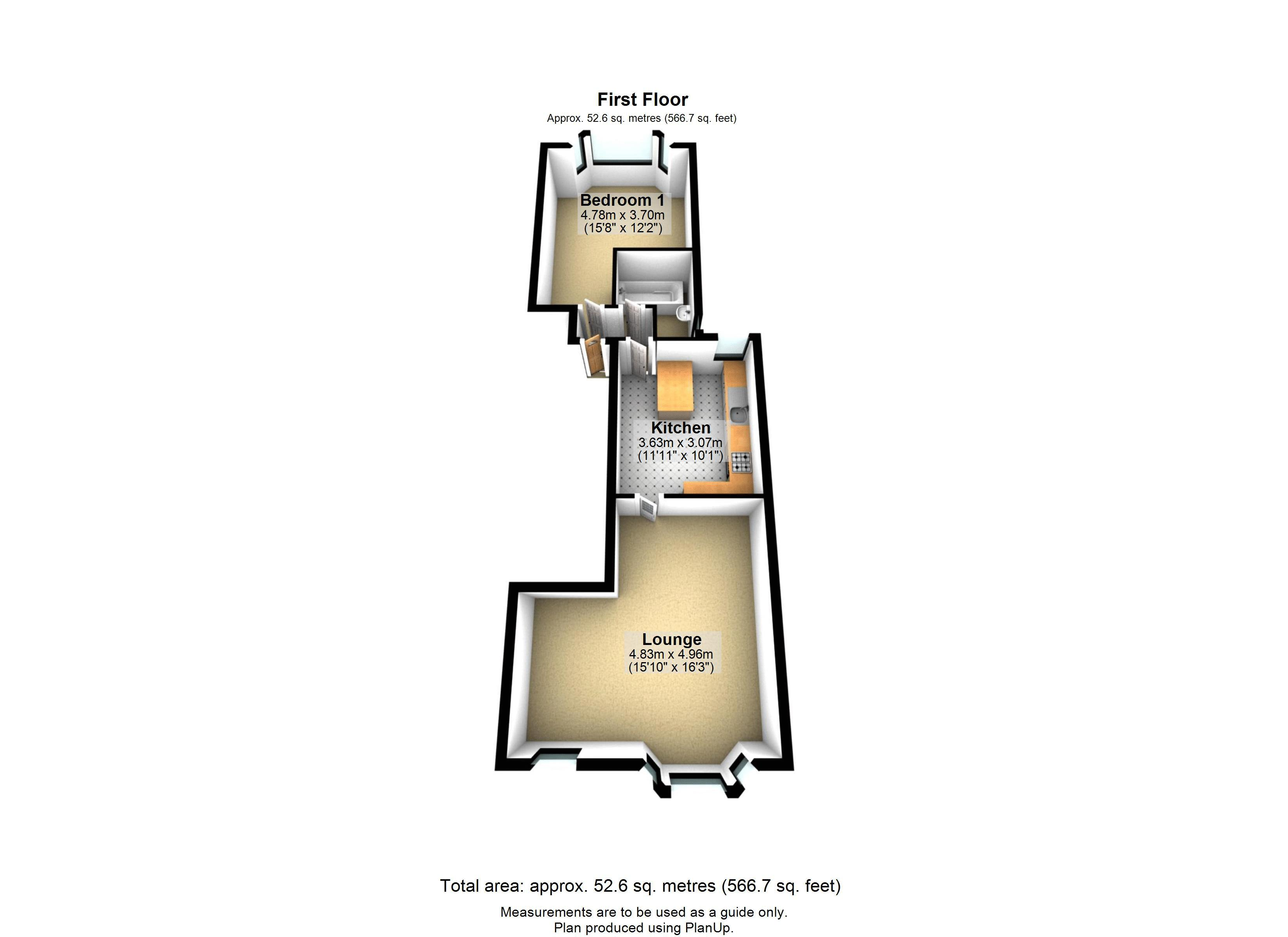 1 bed flat for sale in Cheltenham Road - Property Floorplan