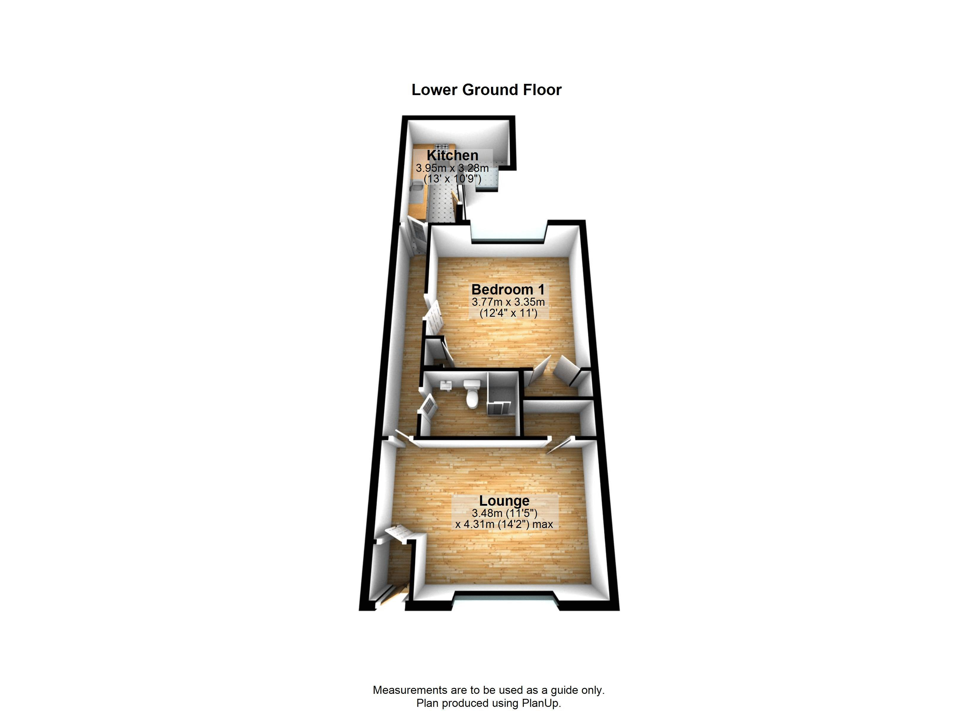 1 bed flat to rent in Princess Victoria Street - Property Floorplan