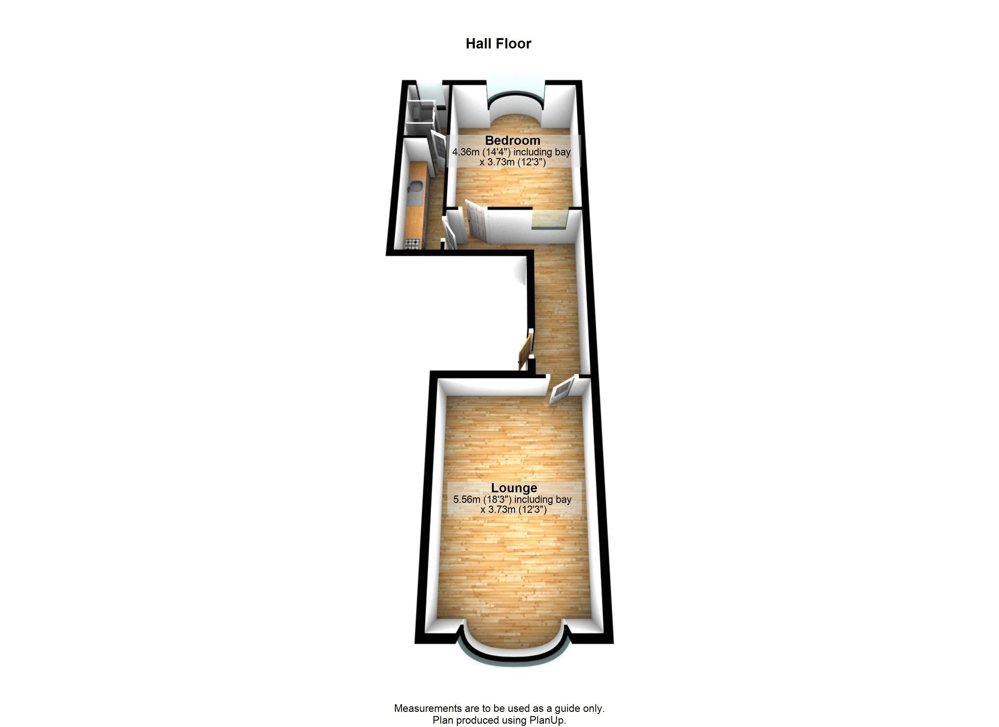 1 bed flat to rent in Clifton Park Road - Property Floorplan