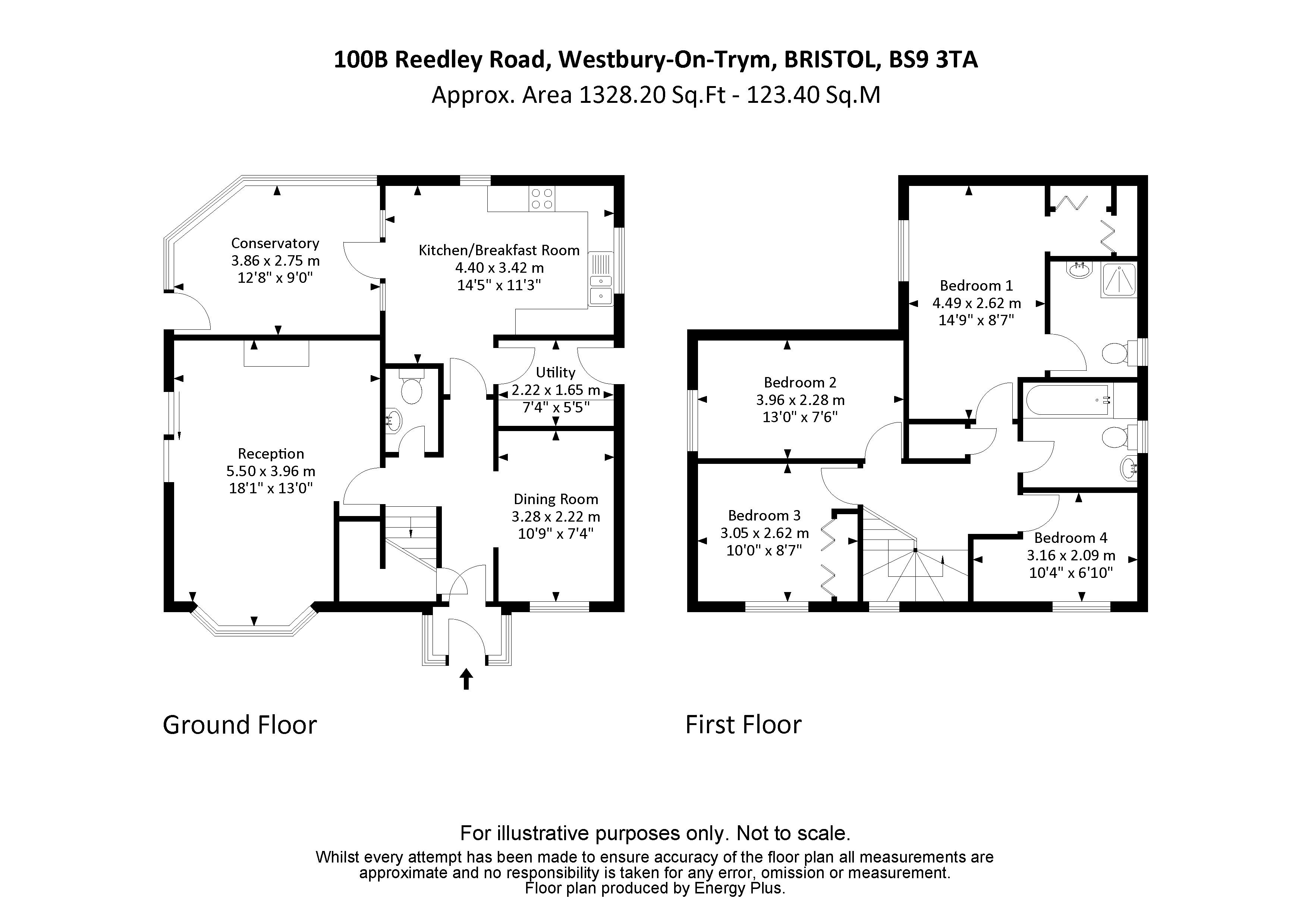 4 bed house to rent in Reedley Road - Property Floorplan