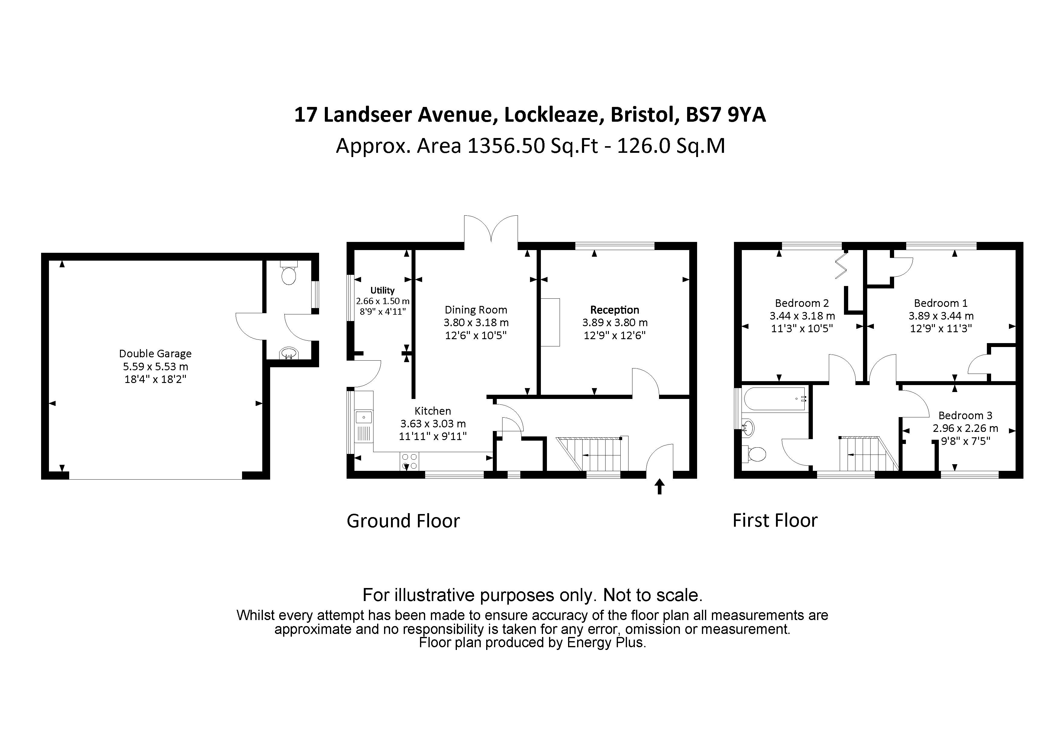 3 bed house for sale in Landseer Avenue - Property Floorplan