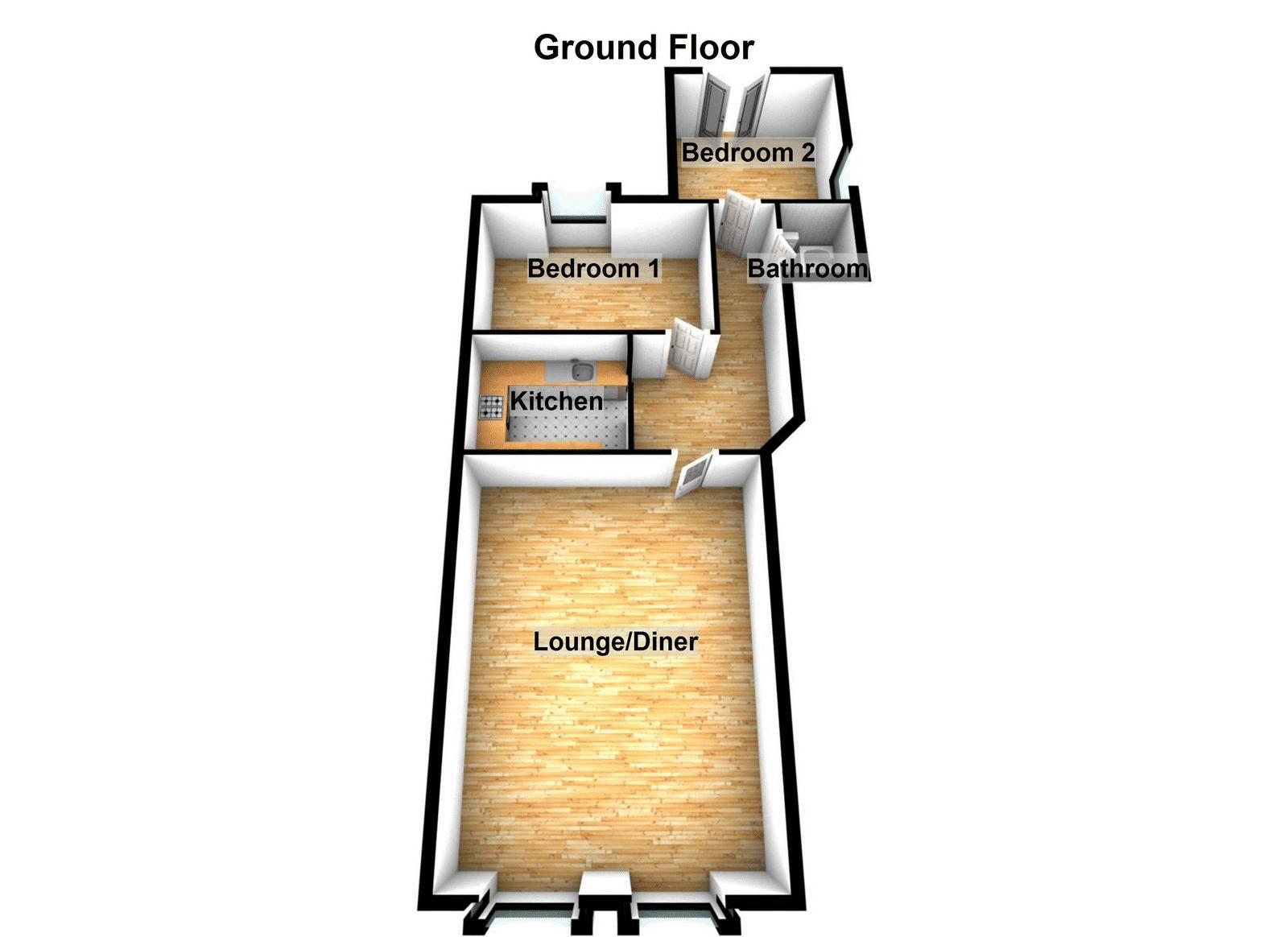2 bed flat to rent in Victoria Square - Property Floorplan