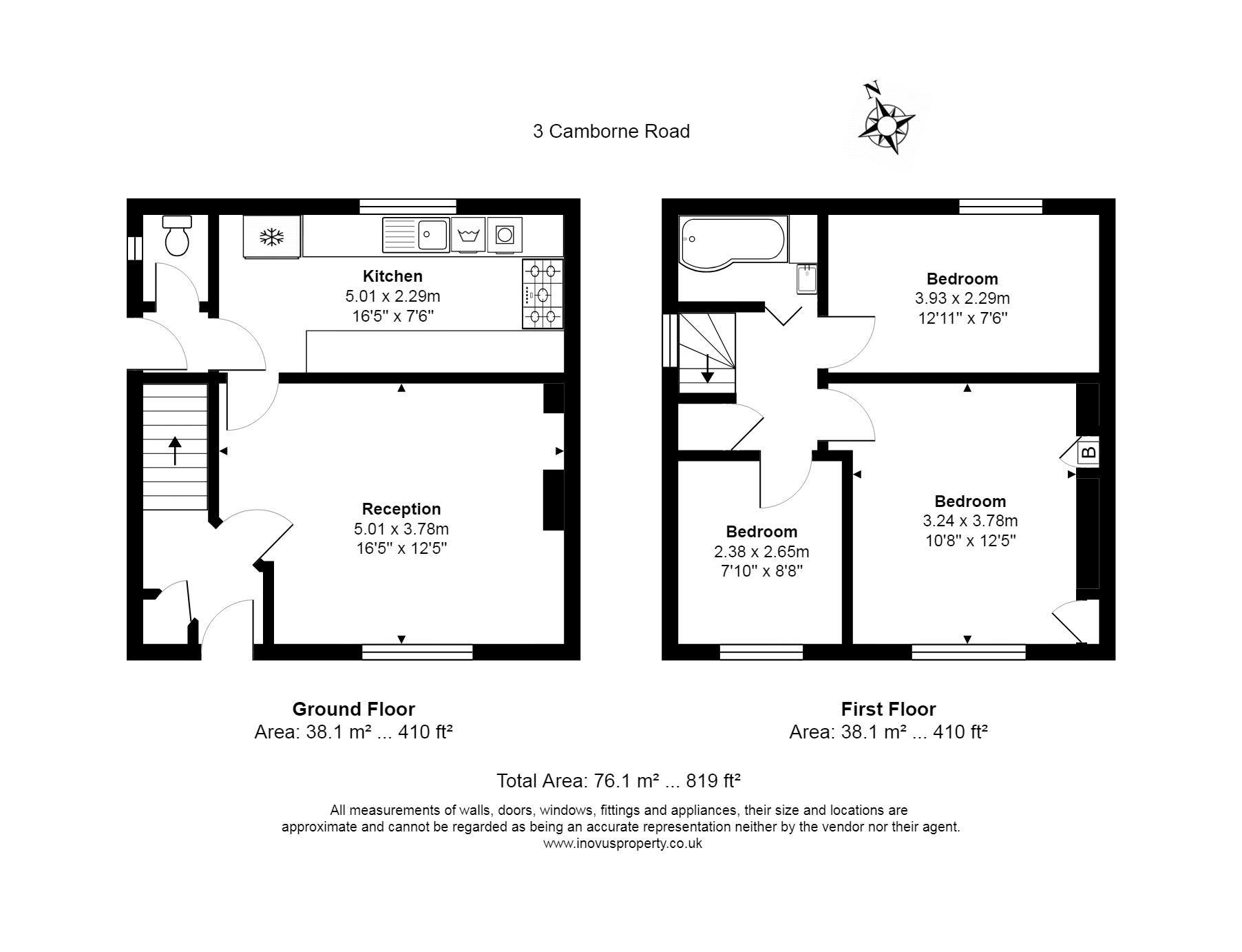 3 bed house for sale in Camborne Road - Property Floorplan