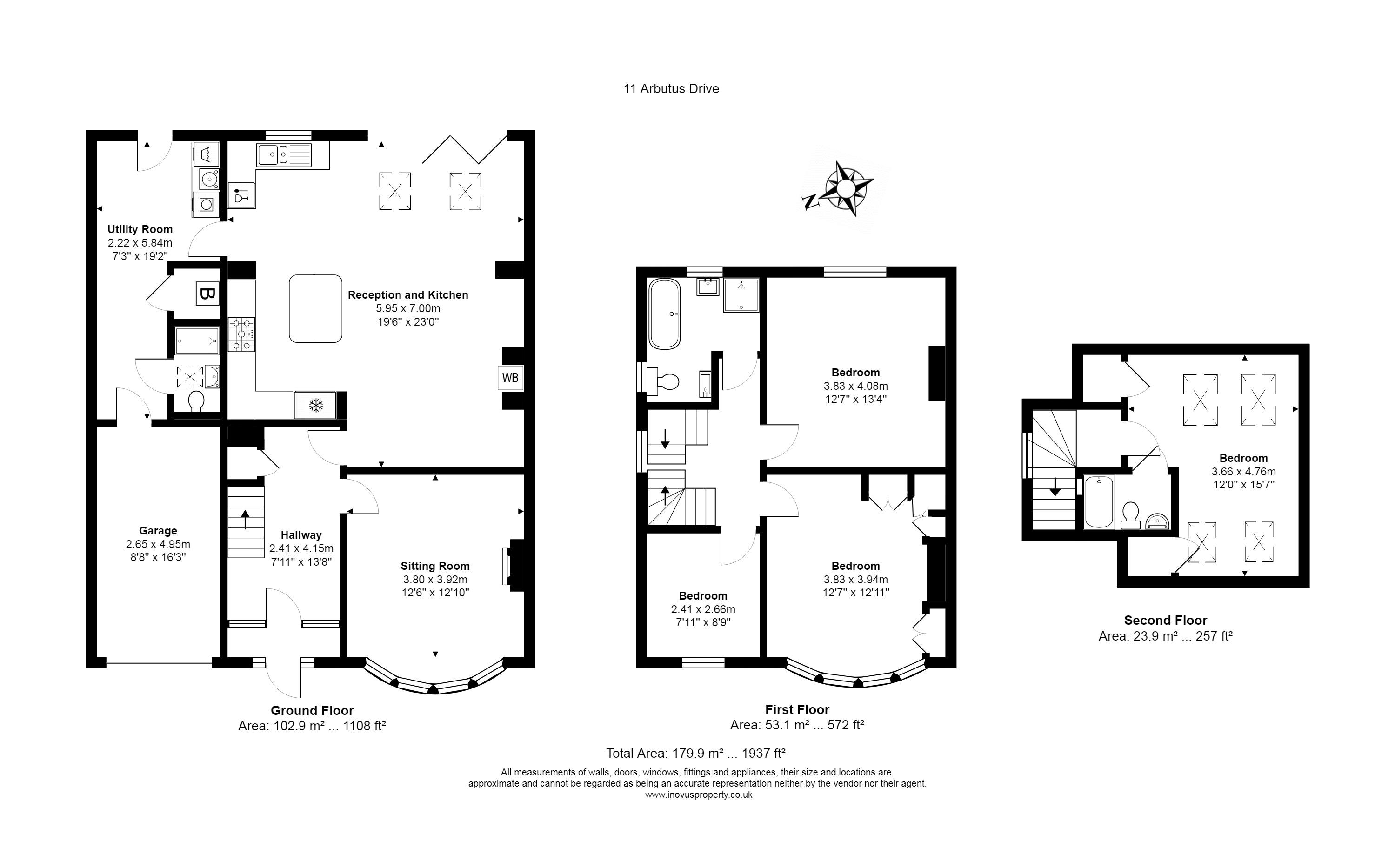 4 bed house for sale in Arbutus Drive - Property Floorplan