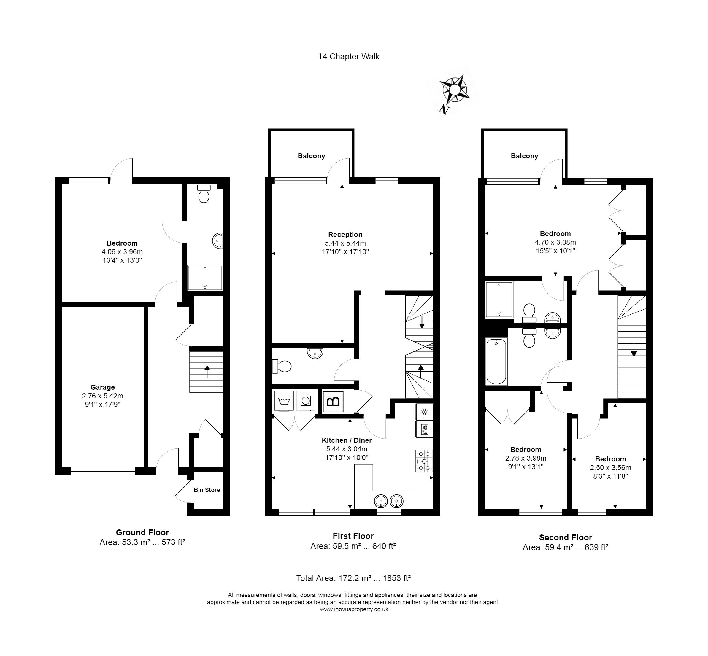 4 bed house for sale in Chapter Walk - Property Floorplan