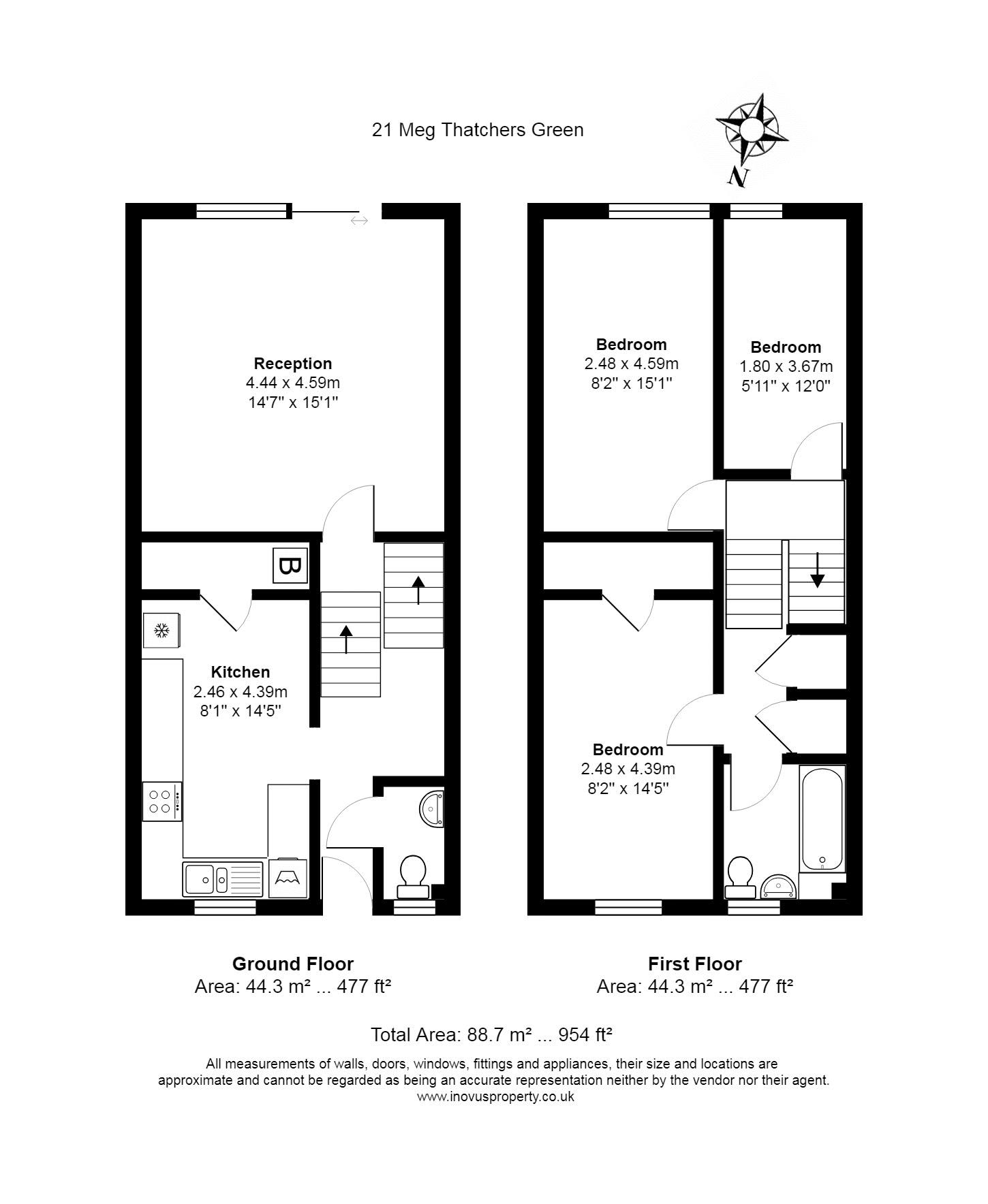 3 bed house for sale in Meg Thatchers Green - Property Floorplan