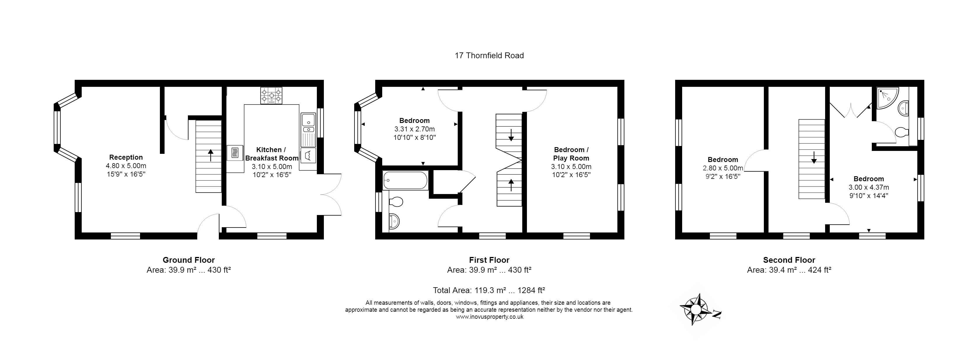 4 bed house for sale in Thornfield Road - Property Floorplan