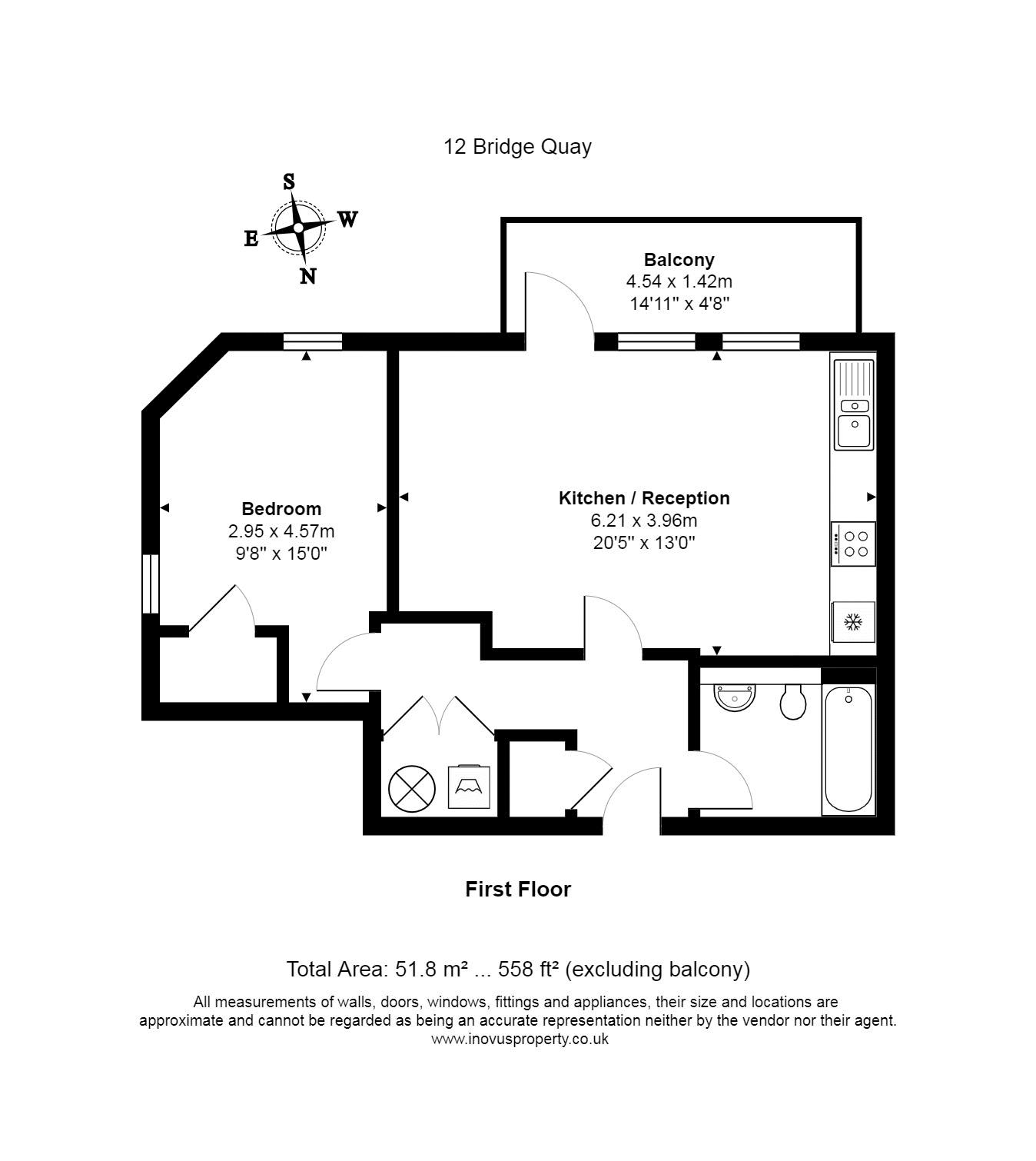 1 bed flat to rent in Redcliff Street - Property Floorplan