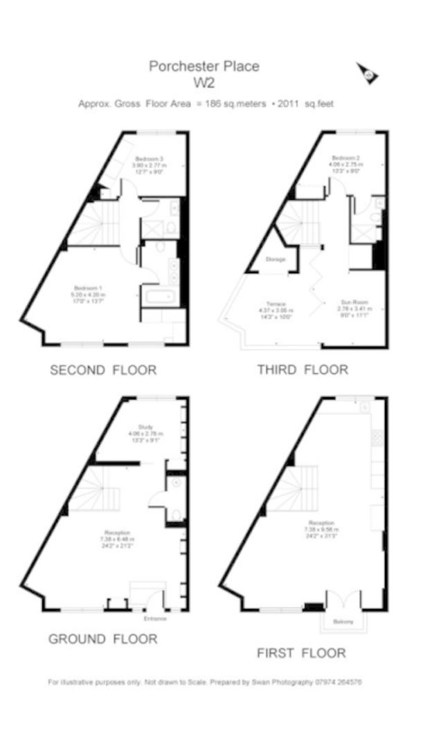 3 bed house for sale in Porchester Place - Property Floorplan