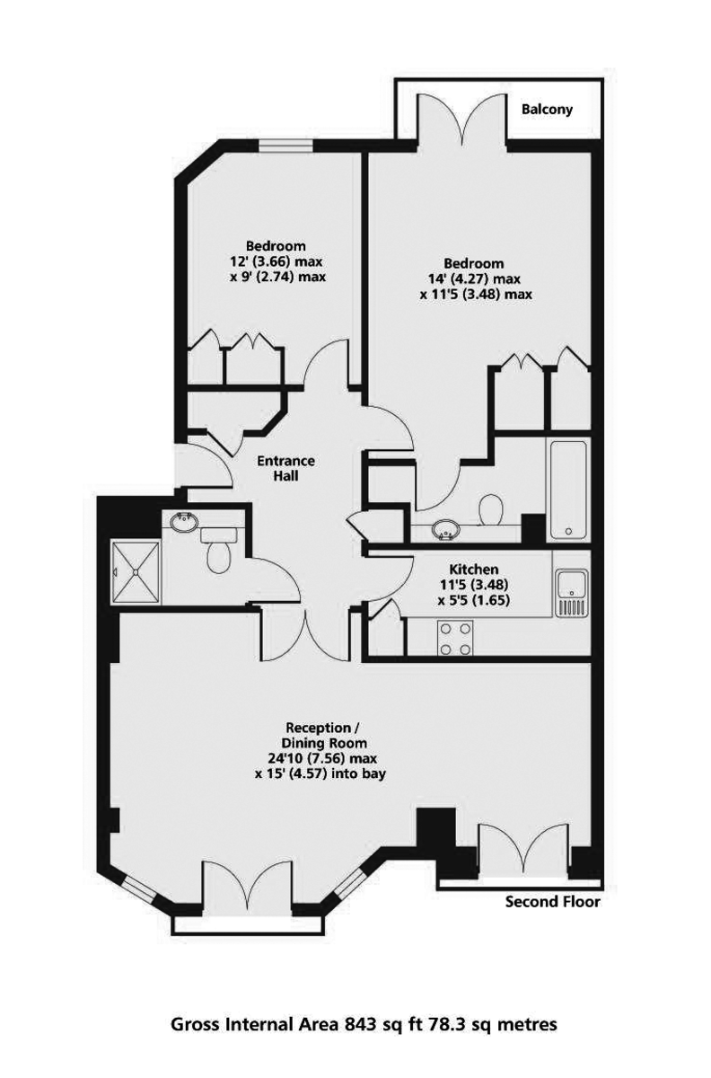 2 bed flat for sale in Clarendon Court - Property Floorplan