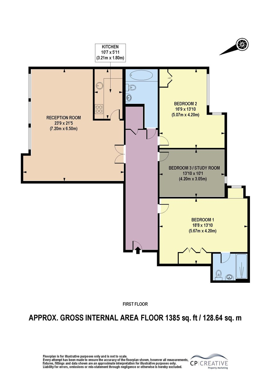 3 bed flat for sale in Cavendish House, Monck Street, London - Property Floorplan