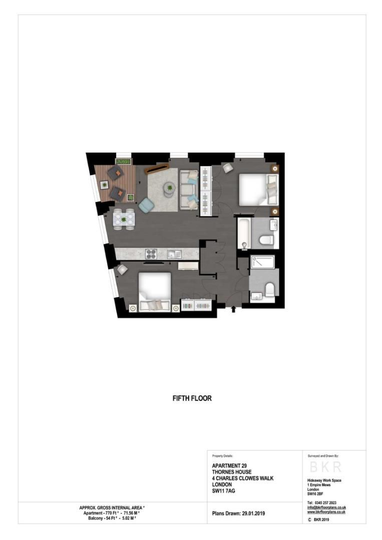 2 bed flat to rent in Thornes House, The Residence - Property Floorplan