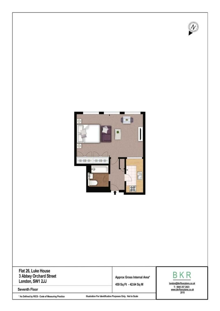 Flat to rent in Luke House - Property Floorplan