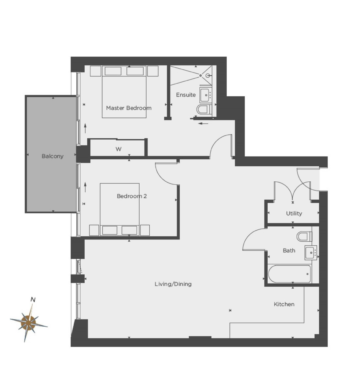2 bed flat for sale in Hermitage Street, Paddington - Property Floorplan