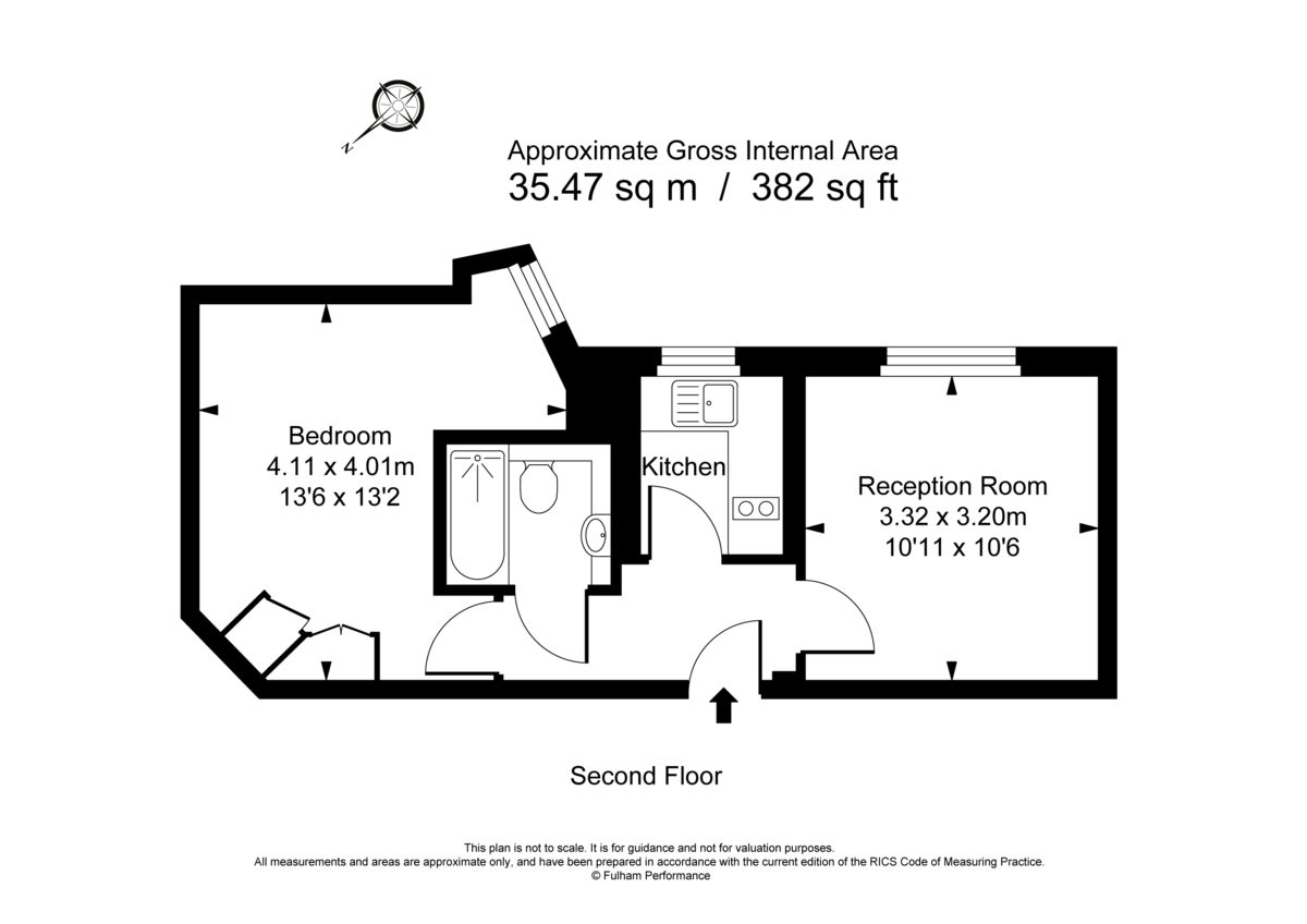 1 bed flat to rent in Chelsea Cloisters - Property Floorplan
