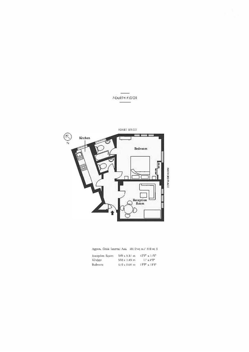 1 bed flat for sale in Forset Court - Property Floorplan