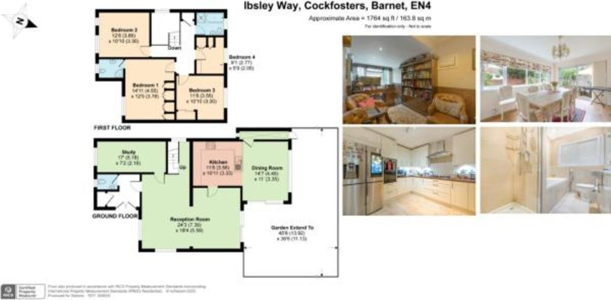 4 bed house for sale in Ibsley Way, Cockfosters, Barnet - Property Floorplan