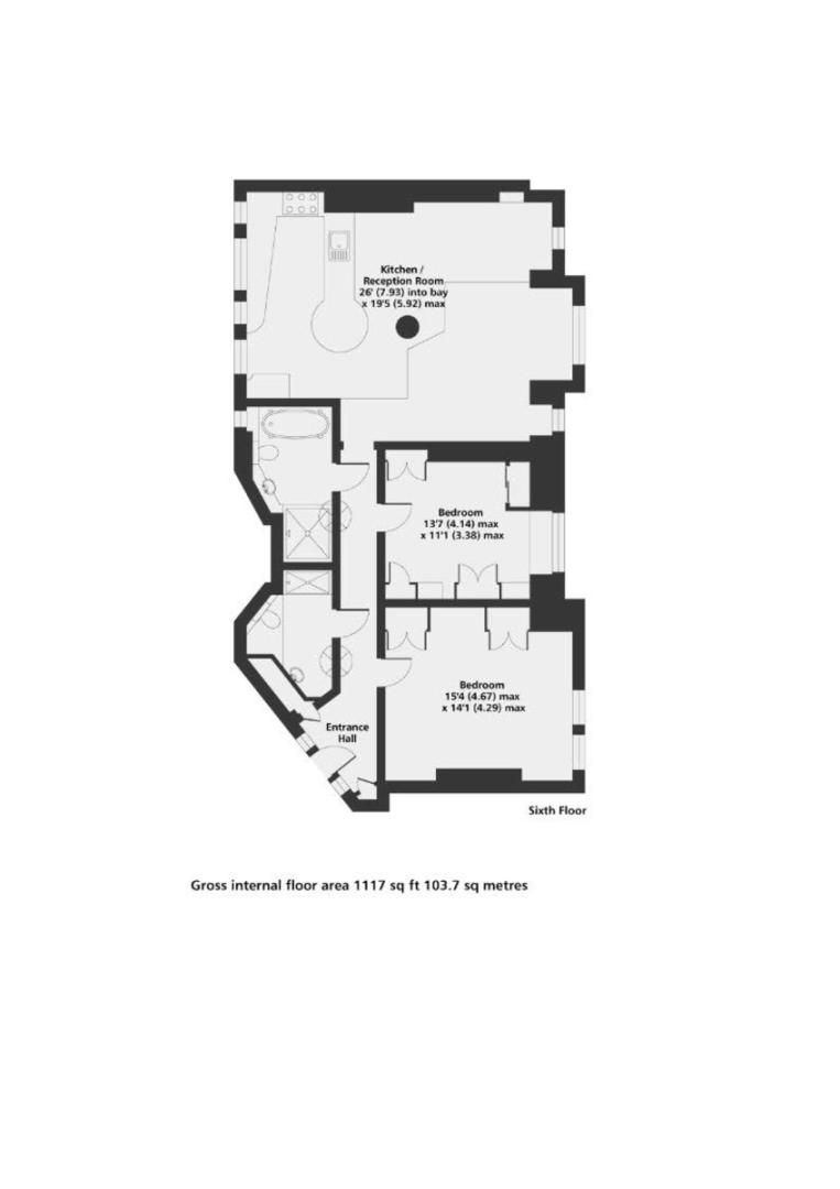 2 bed flat for sale in Chalfont Court, Baker Street   - Property Floorplan