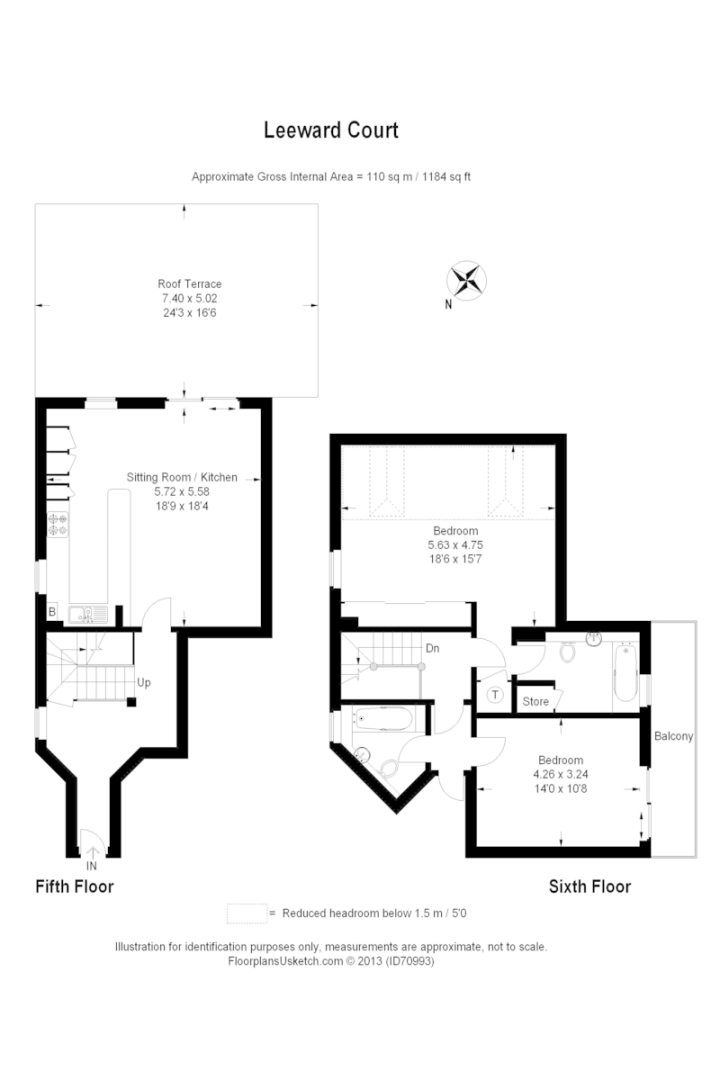 2 bed flat for sale in Leeward Court - Property Floorplan