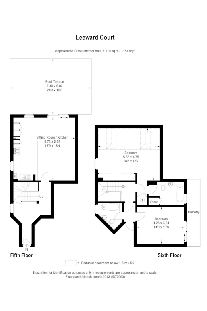 2 bed flat to rent in Asher Way - Property Floorplan
