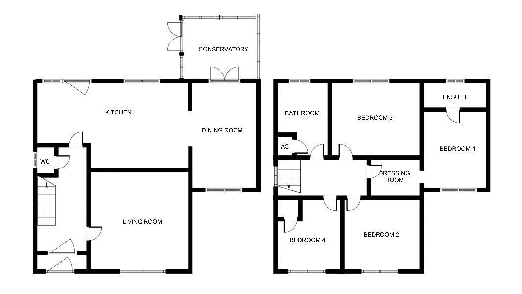 4 bed house for sale in Yeovil - Property Floorplan