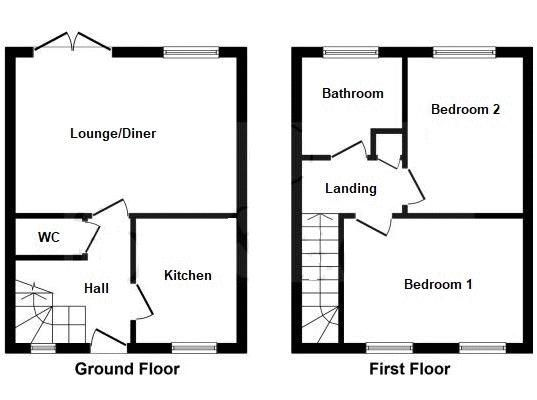 2 bed house to rent in Crewkerne - Property Floorplan