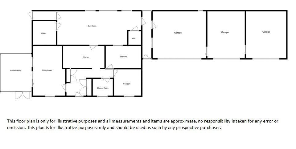 2 bed bungalow for sale in Westport, Langport - Property Floorplan